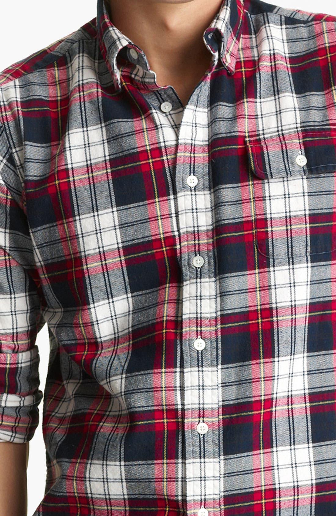 Alternate Image 3  - Gant by Michael Bastian Cotton Flannel Shirt