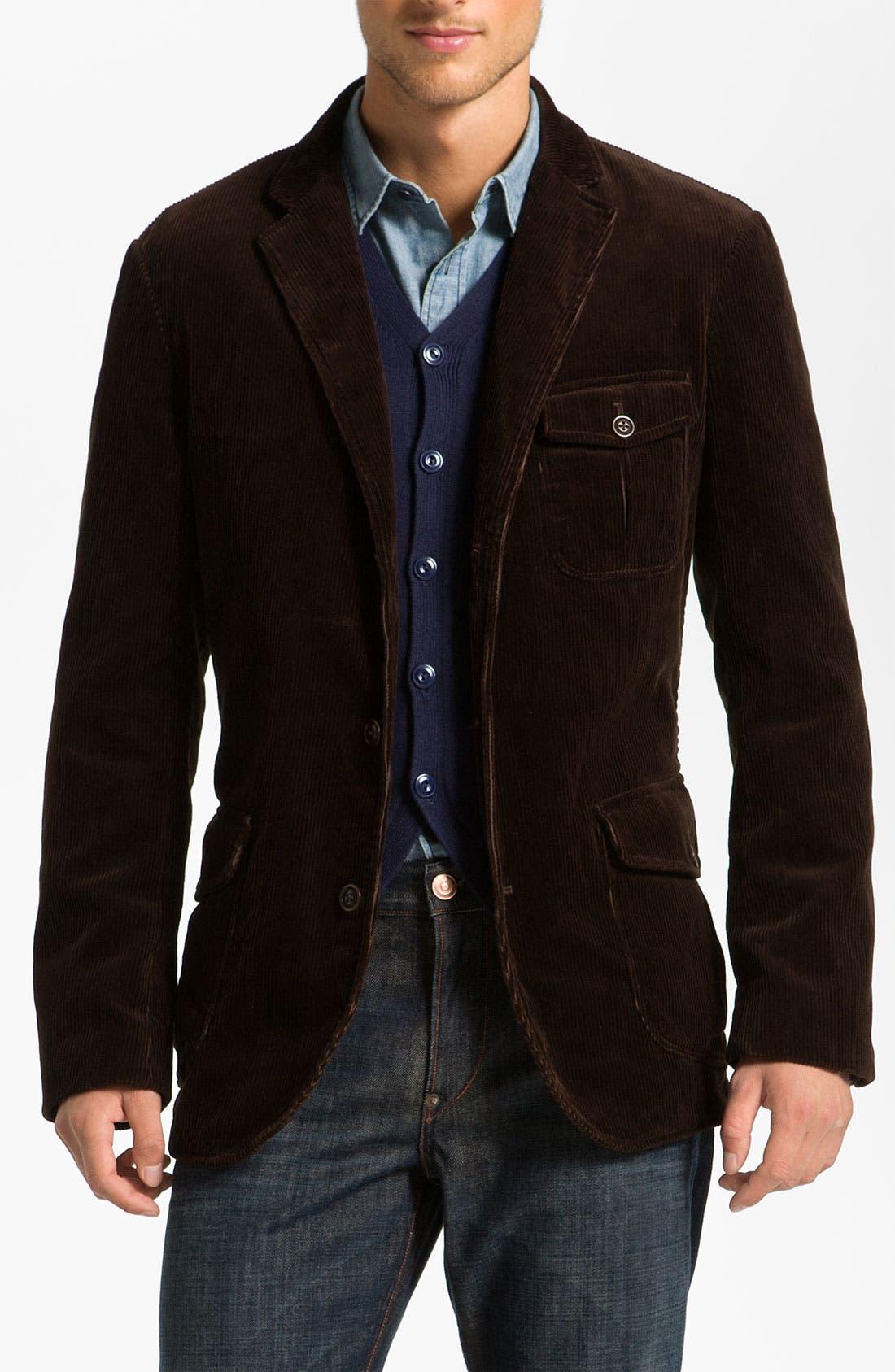 Alternate Image 1 Selected - Façonnable Denim Corduroy Sportcoat