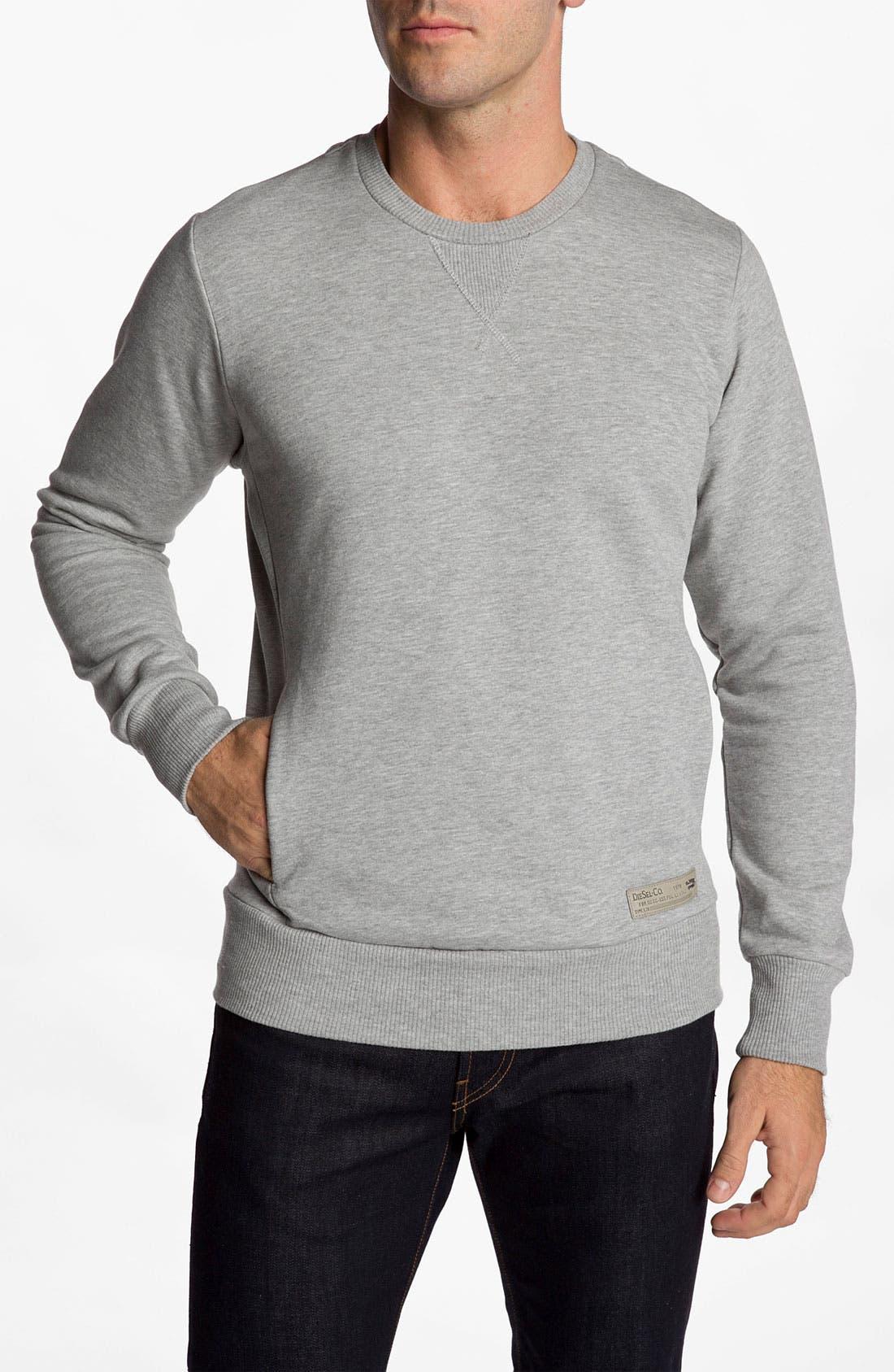 Alternate Image 1 Selected - DIESEL® 'Sleaffy' Sweatshirt