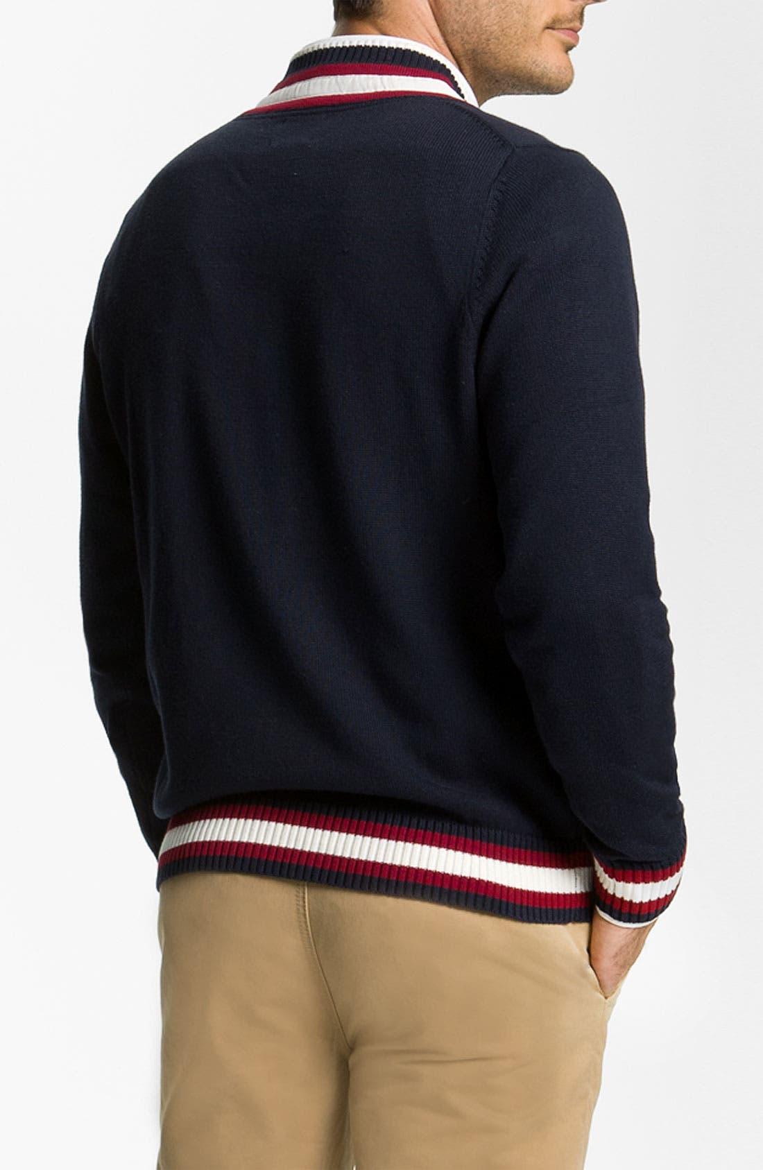Alternate Image 2  - Brooks Brothers 'Cricket' V-Neck Cotton & Wool Sweater