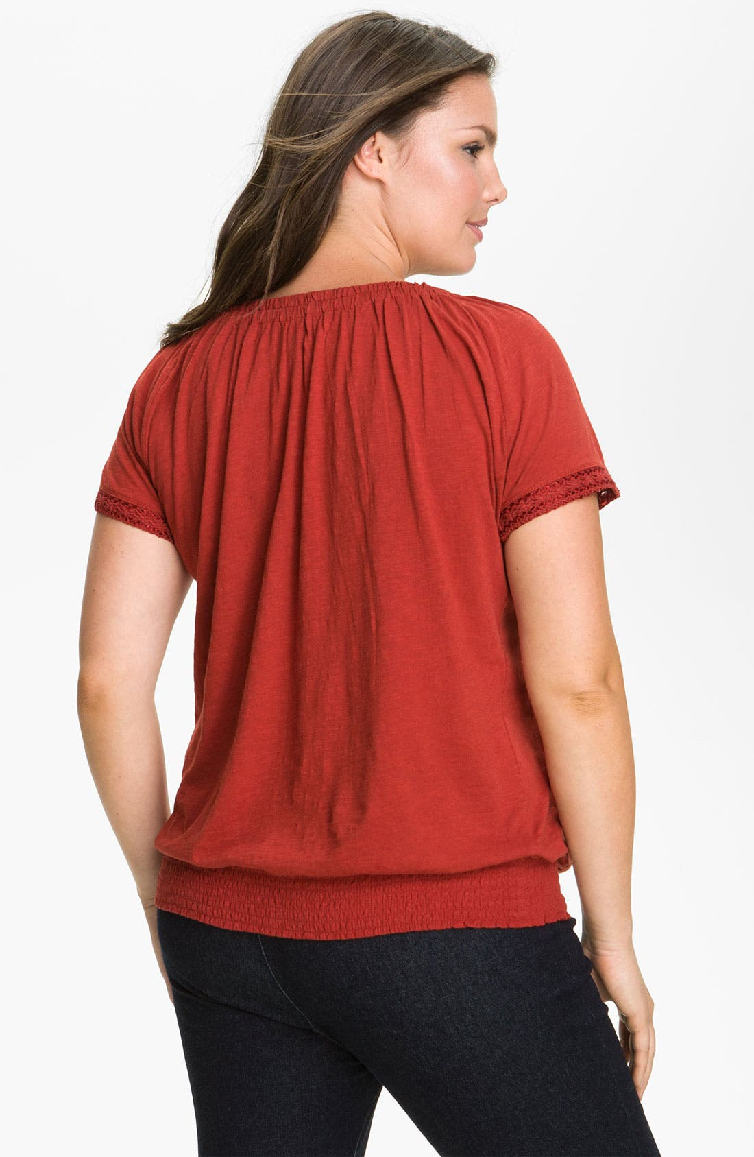 Alternate Image 2  - Lucky Brand 'Cherene' Top (Plus)