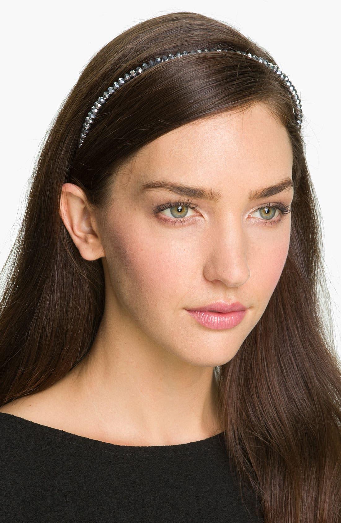 Main Image - Cara Skinny Bead Headband
