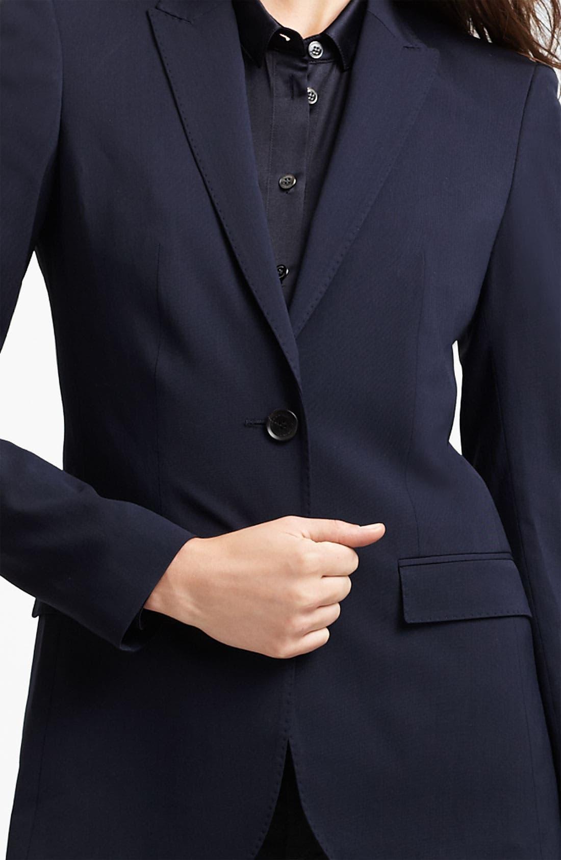 Alternate Image 3  - Burberry London One Button Jacket