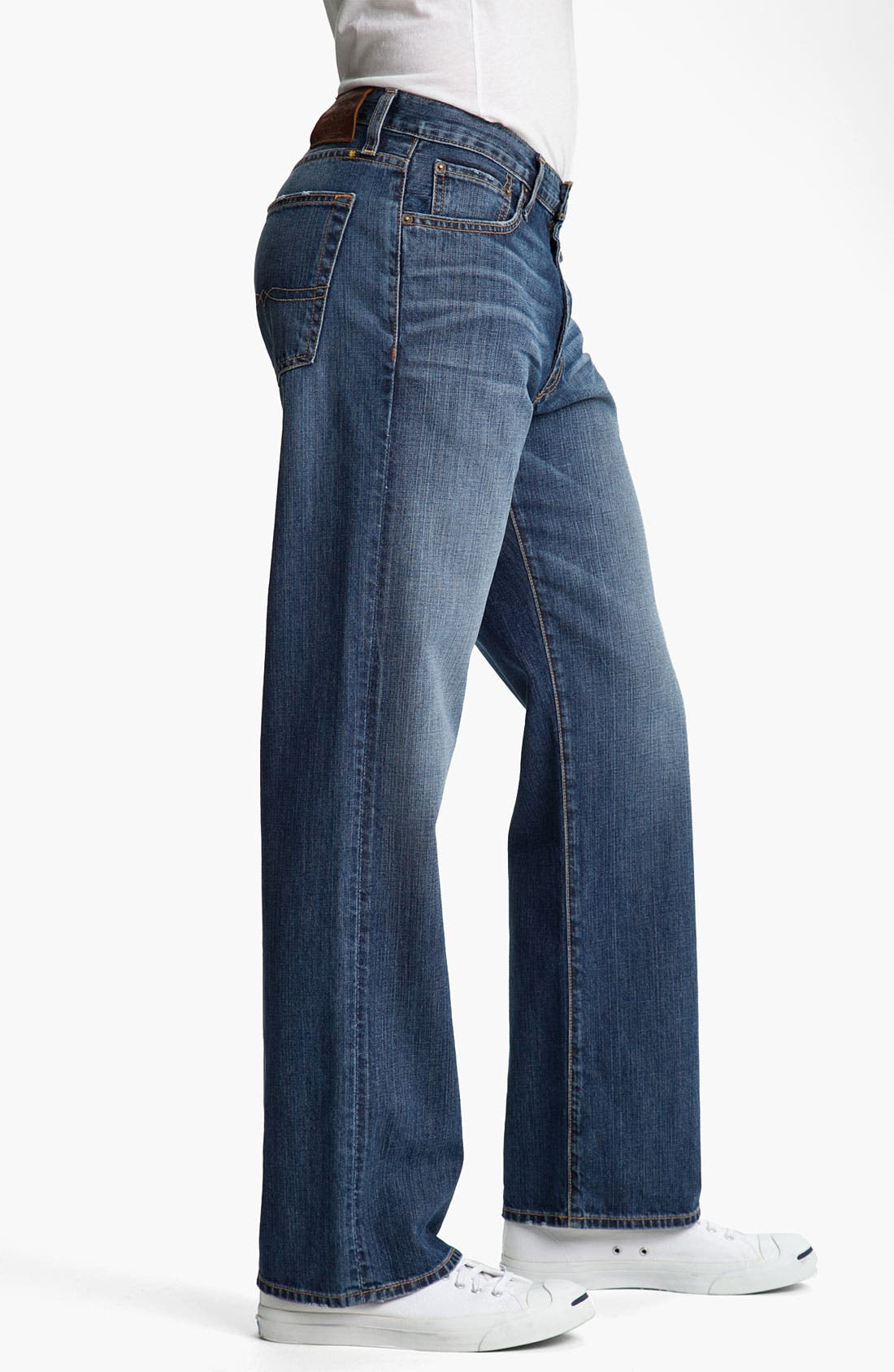 Alternate Image 3  - Lucky Brand '181' Relaxed Straight Leg Jeans (Medium Clarksville)