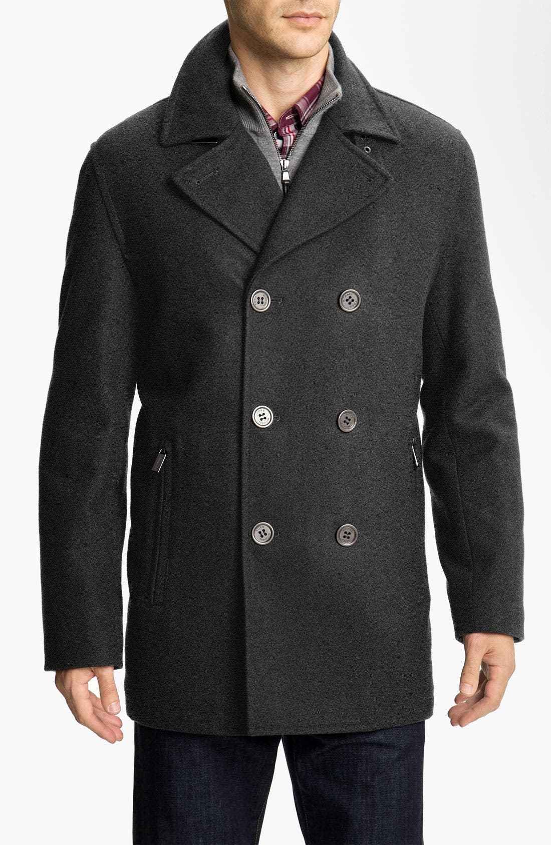 Alternate Image 1 Selected - Michael Kors 'San Diego' Wool Blend Peacoat (Online Exclusive)