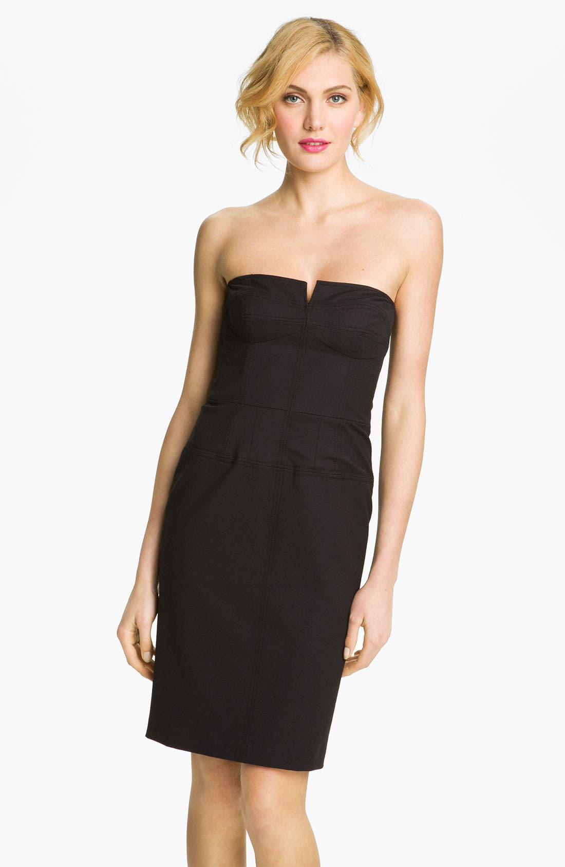 Main Image - French Connection 'Days of Winter' Strapless Sheath Dress