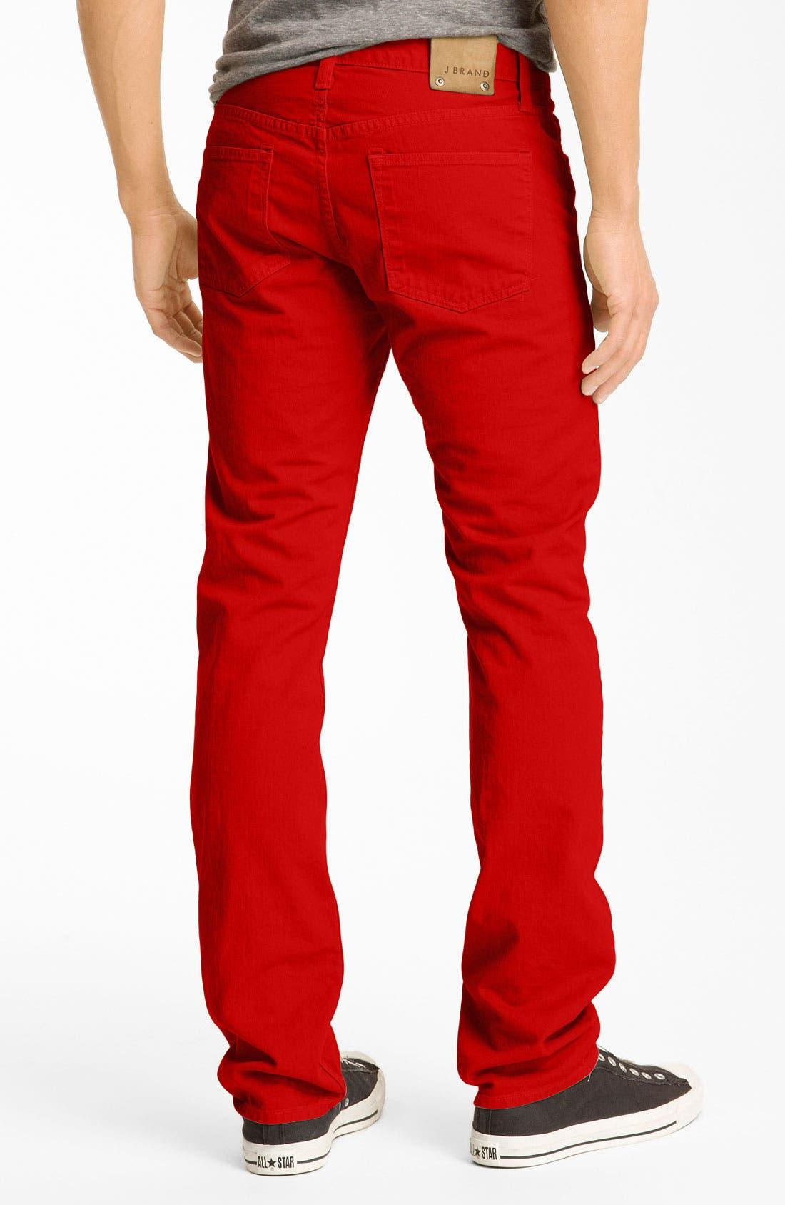 Alternate Image 1 Selected - J Brand 'Kane' Slim Straight Leg Jeans (Buoy Red)