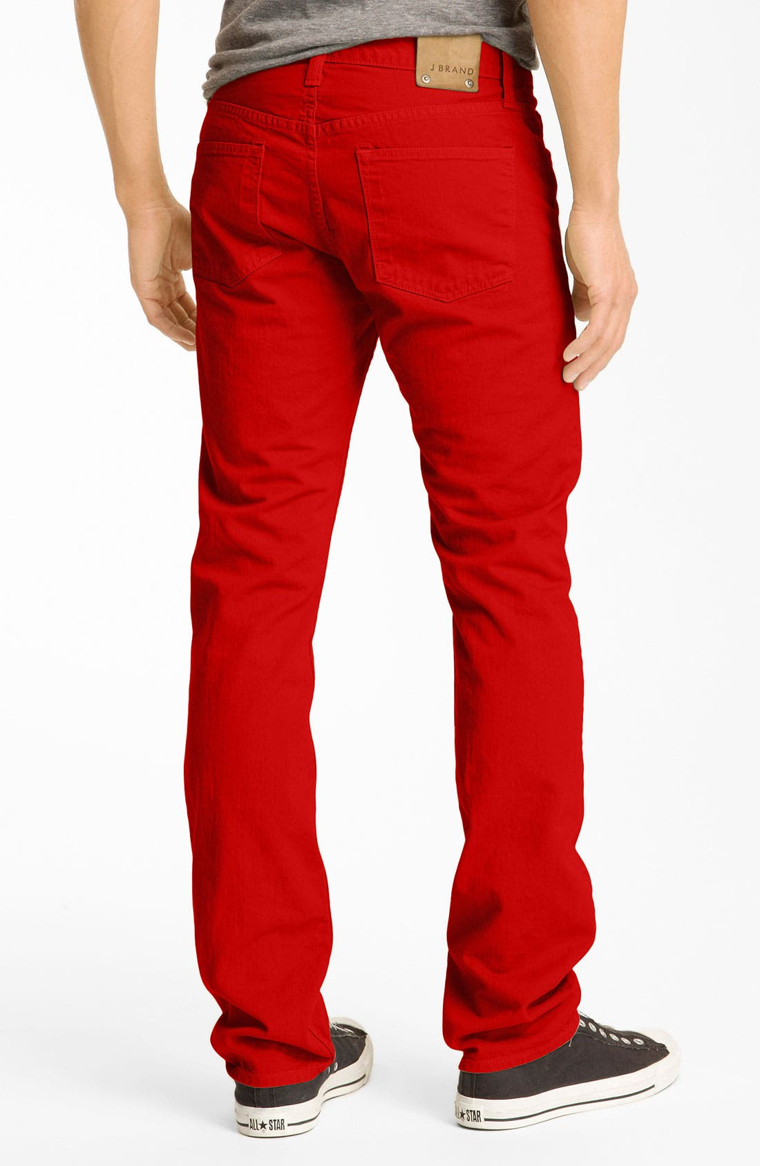 Main Image - J Brand 'Kane' Slim Straight Leg Jeans (Buoy Red)