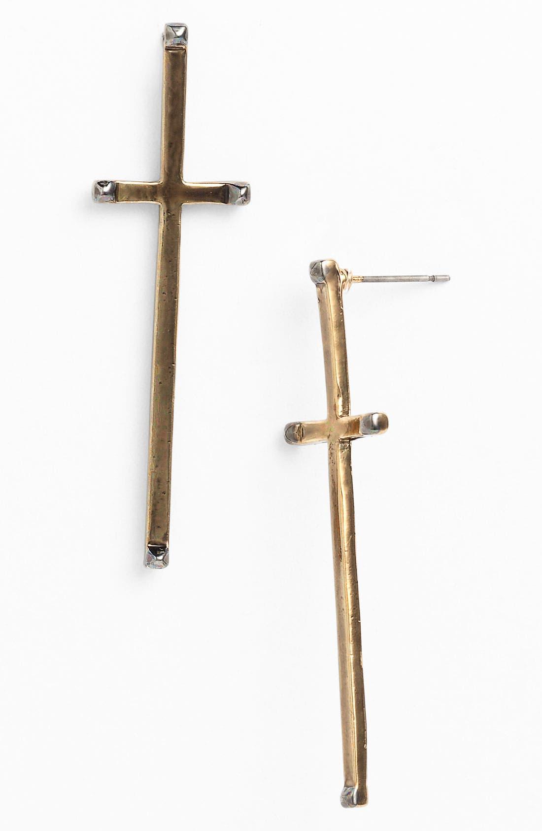 Alternate Image 1 Selected - House of Harlow 1960 Long Cross Earrings