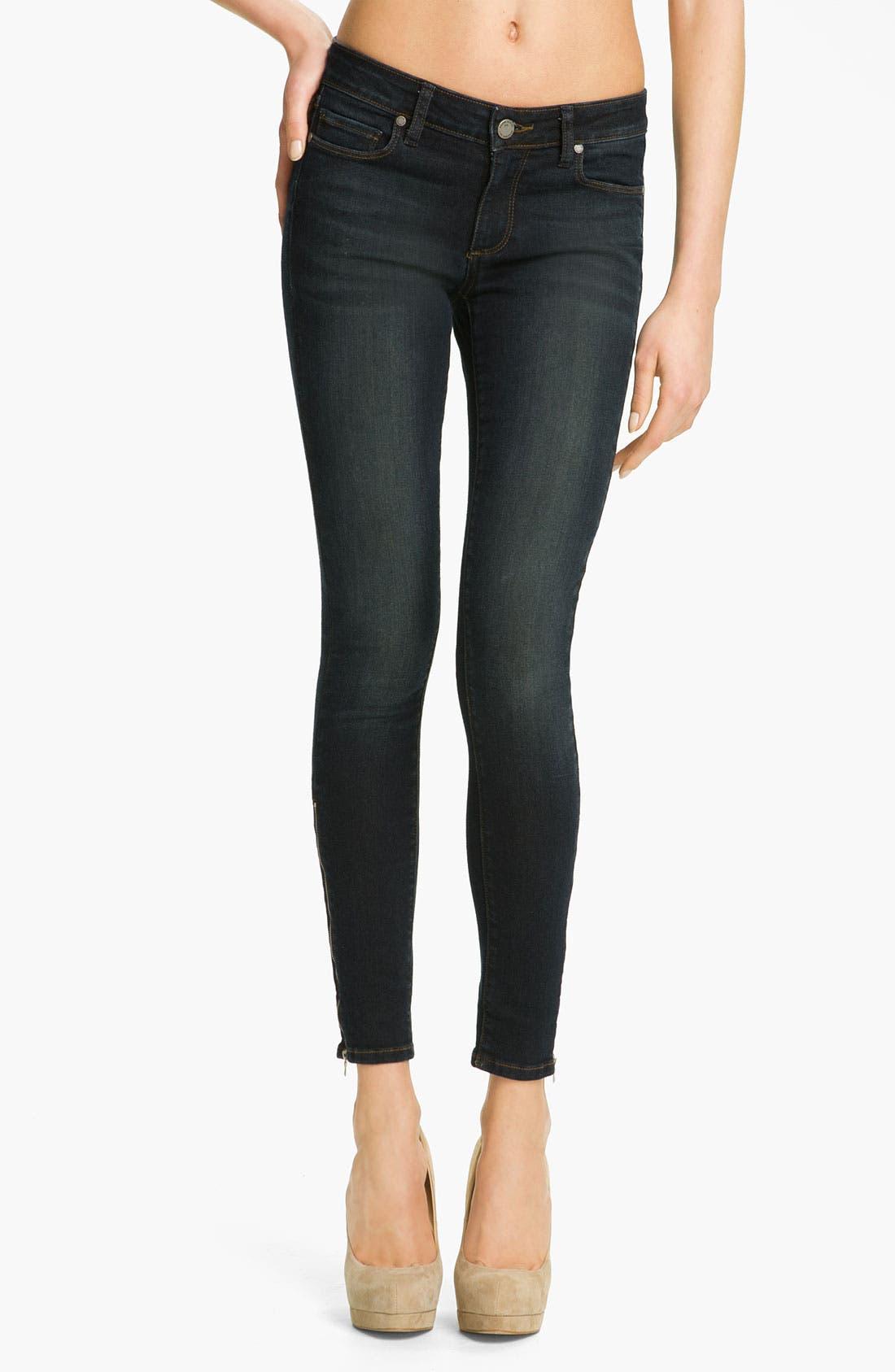 Alternate Image 1 Selected - Paige Denim 'Eve' Skinny Ankle Zip Skinny Jeans (Fairbanks)