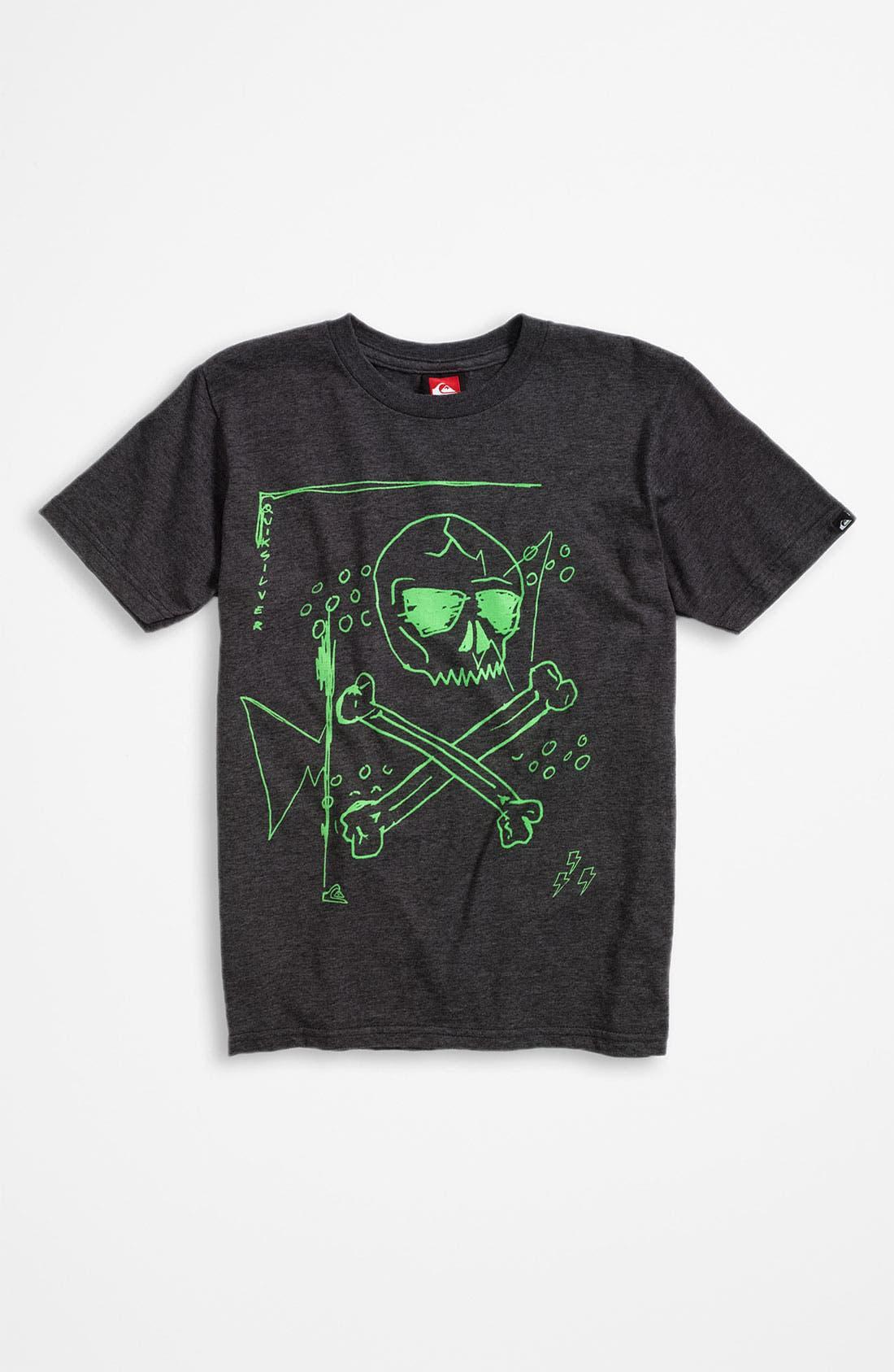 Alternate Image 1 Selected - Quiksilver Ring Spun Jersey T-Shirt (Little Boys)