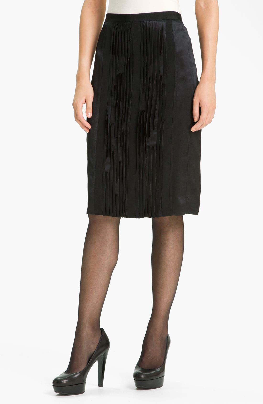 Main Image - Magaschoni Silk Charmeuse Skirt