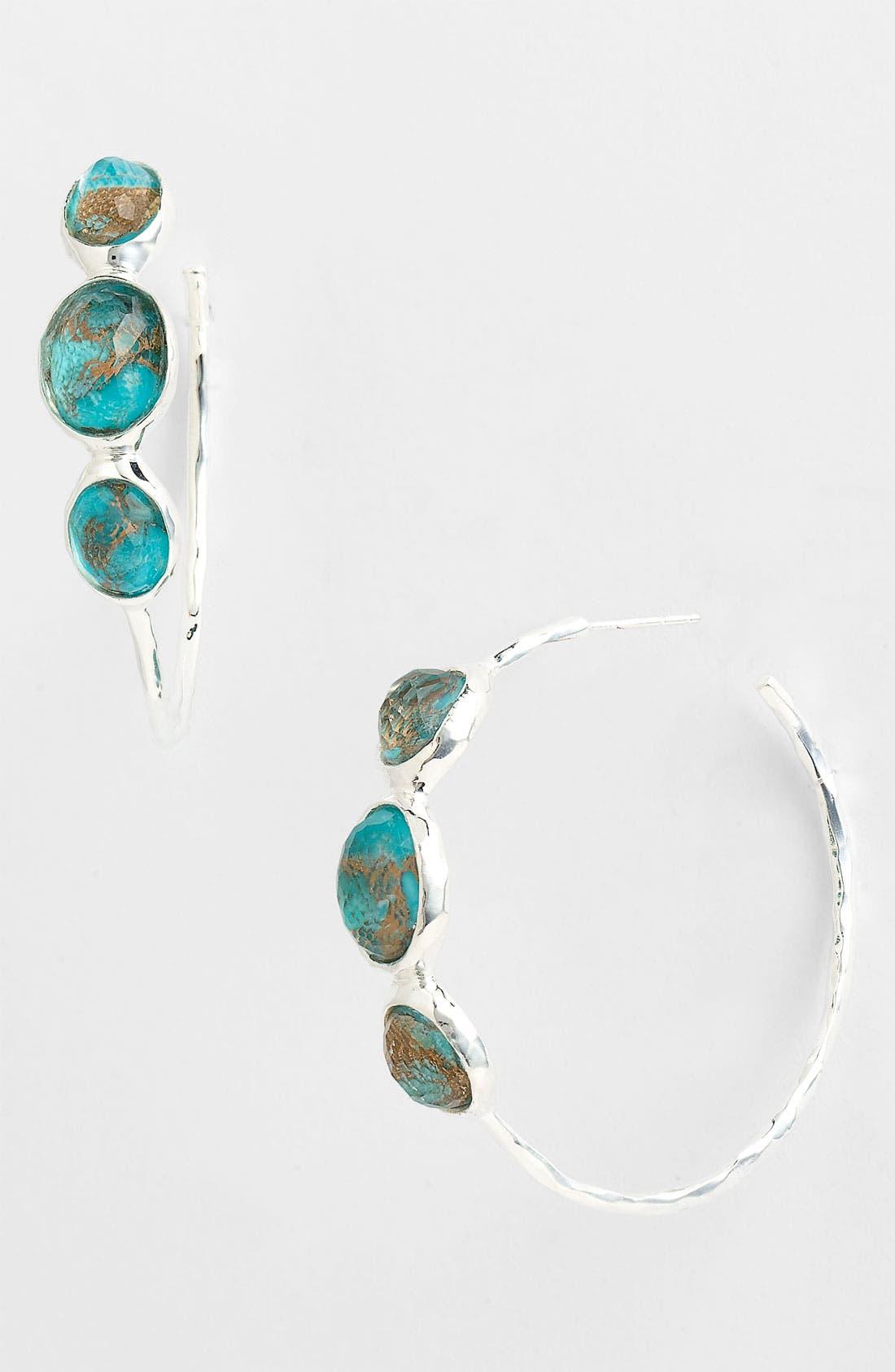 Main Image - Ippolita 'Rock Candy - Number 3' 3 Stone Hoop Earrings