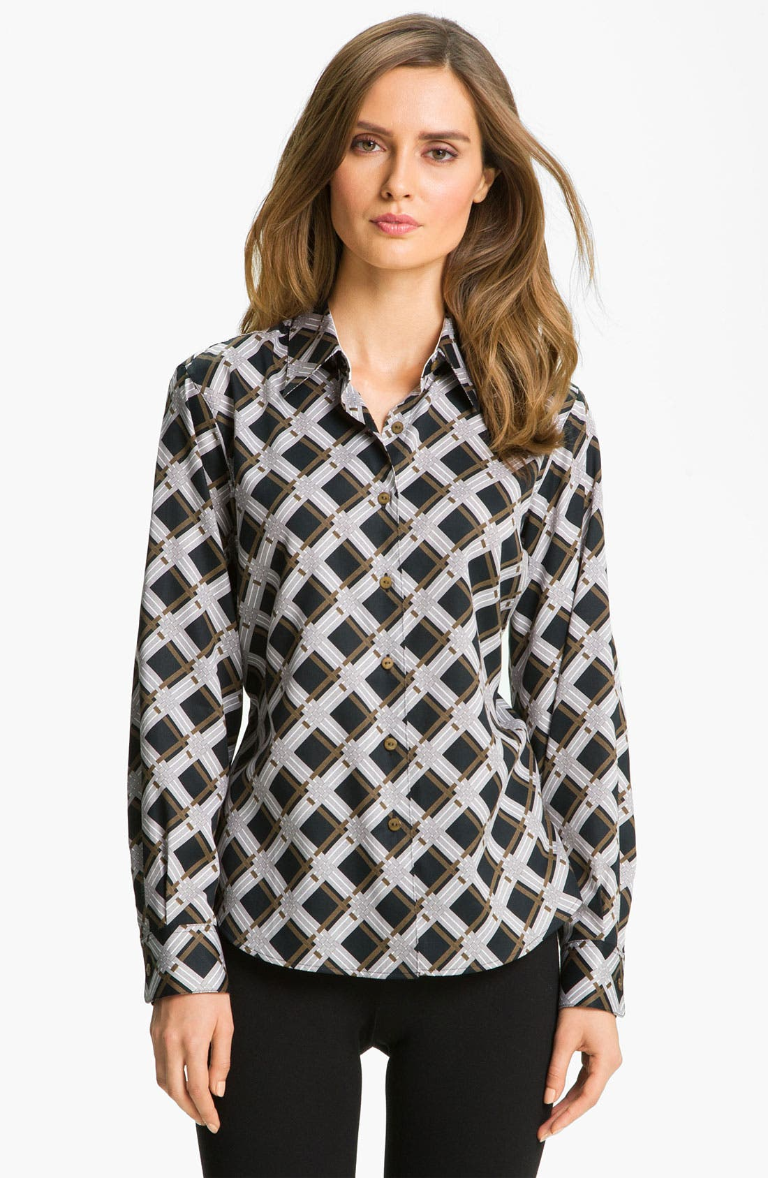 Main Image - Foxcroft Graphic Plaid Shirt