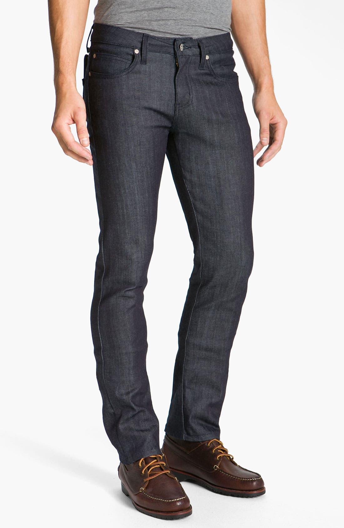 Alternate Image 2  - Naked & Famous Denim 'Skinny Guy' Slim Cotton Cashmere Skinny Leg Jeans (Dark Indigo)