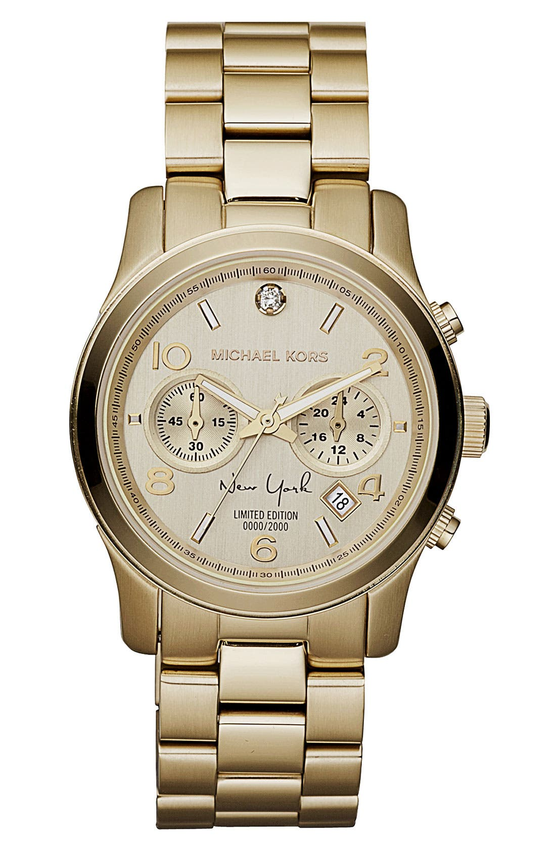 Alternate Image 1 Selected - Michael Kors 'Runway - New York' Chronograph Bracelet Watch, 38mm (Limited Edition)
