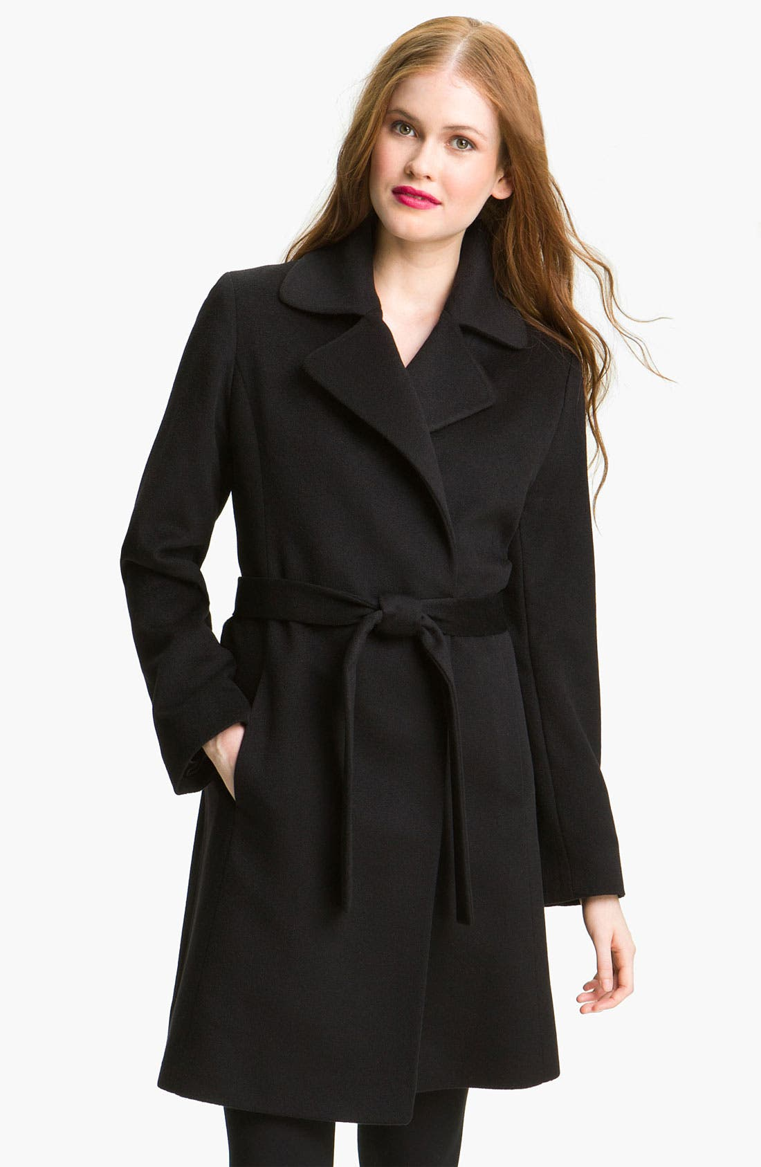 Alternate Image 1 Selected - Fleurette Cashmere Wrap Coat (Online Exclusive)