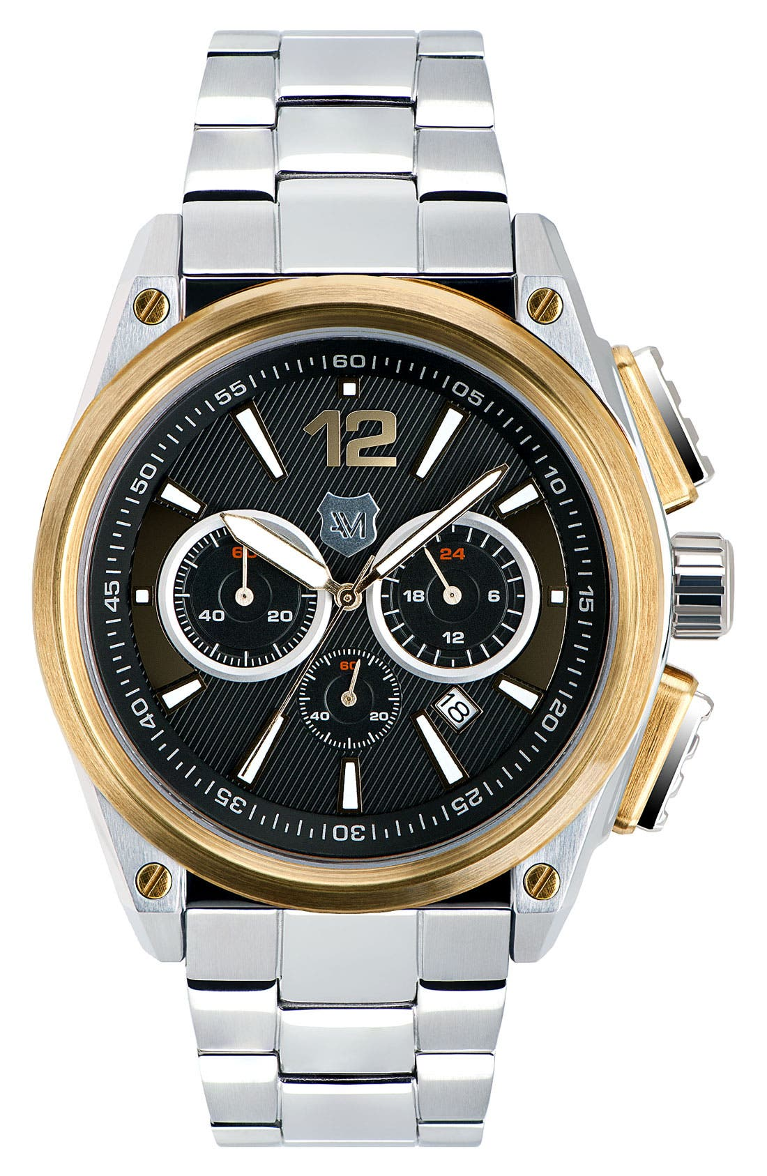 Alternate Image 1 Selected - Andrew Marc Watches 'G-III Racer' Chronograph Bracelet Watch, 46mm