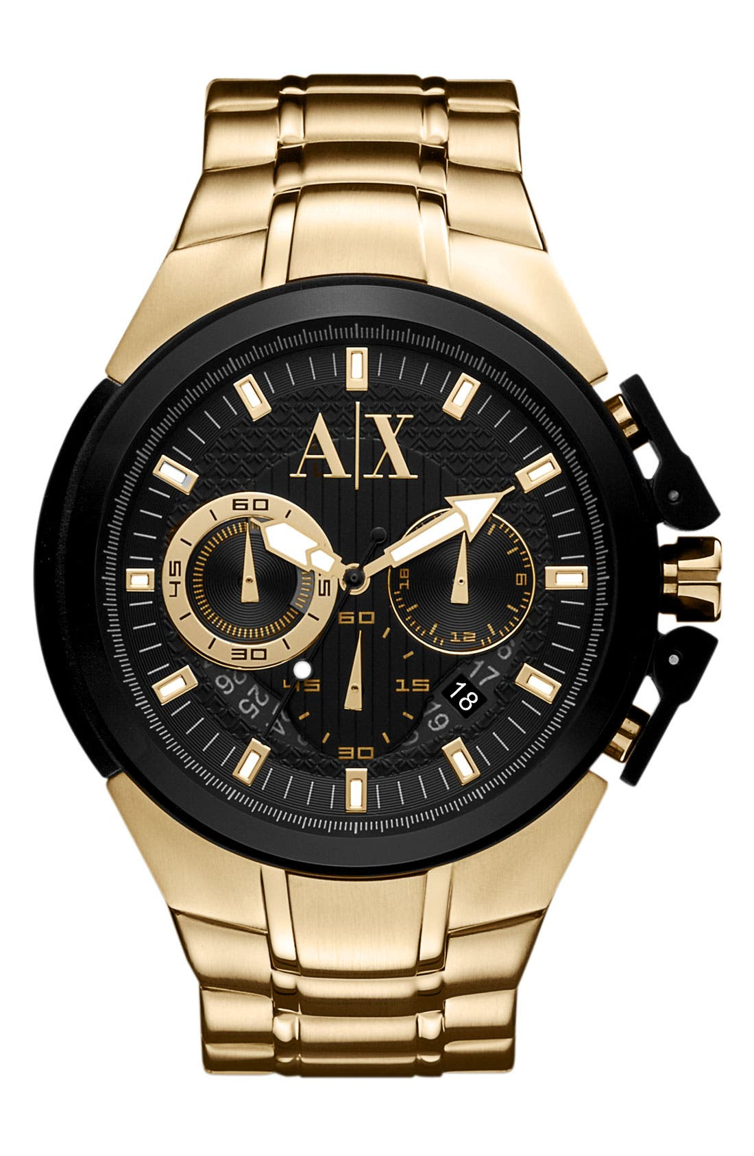 Main Image - AX Armani Exchange Chronograph Bracelet Watch, 50mm