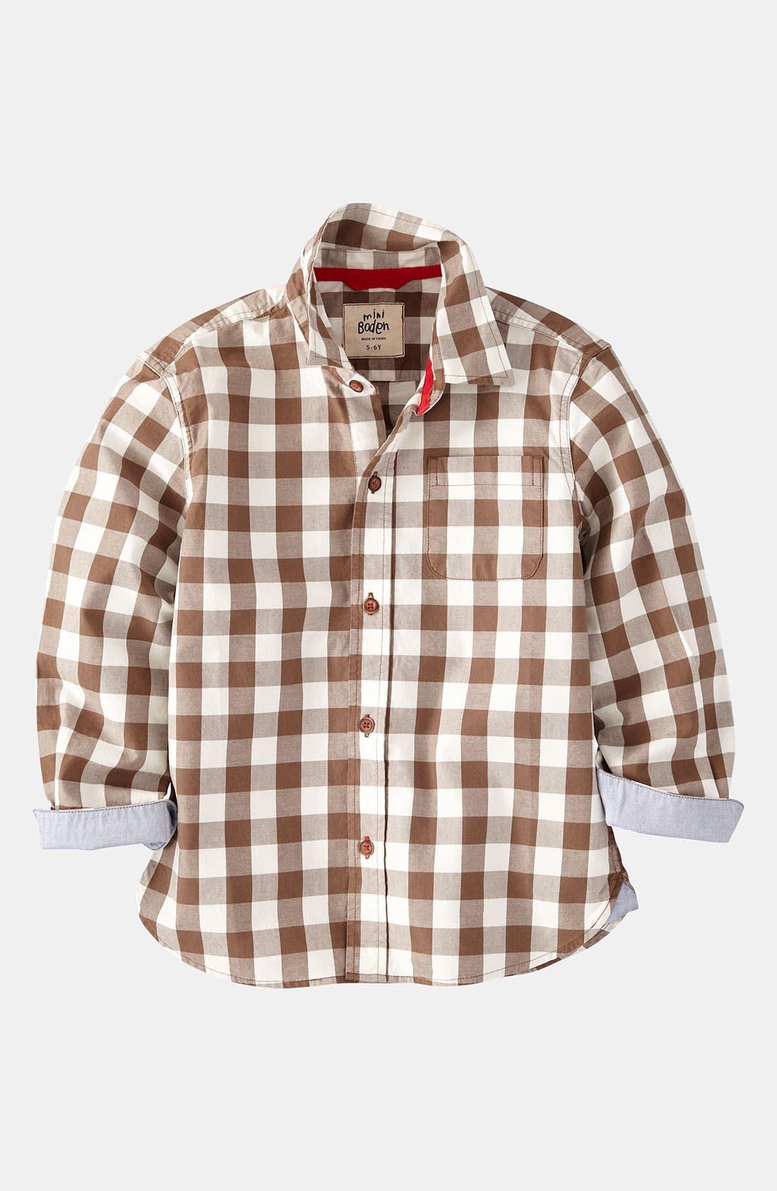 Alternate Image 1 Selected - Mini Boden Twill Shirt (Little Boys & Big Boys)