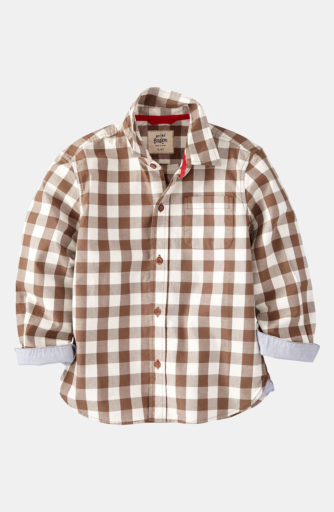 Main Image - Mini Boden Twill Shirt (Little Boys & Big Boys)