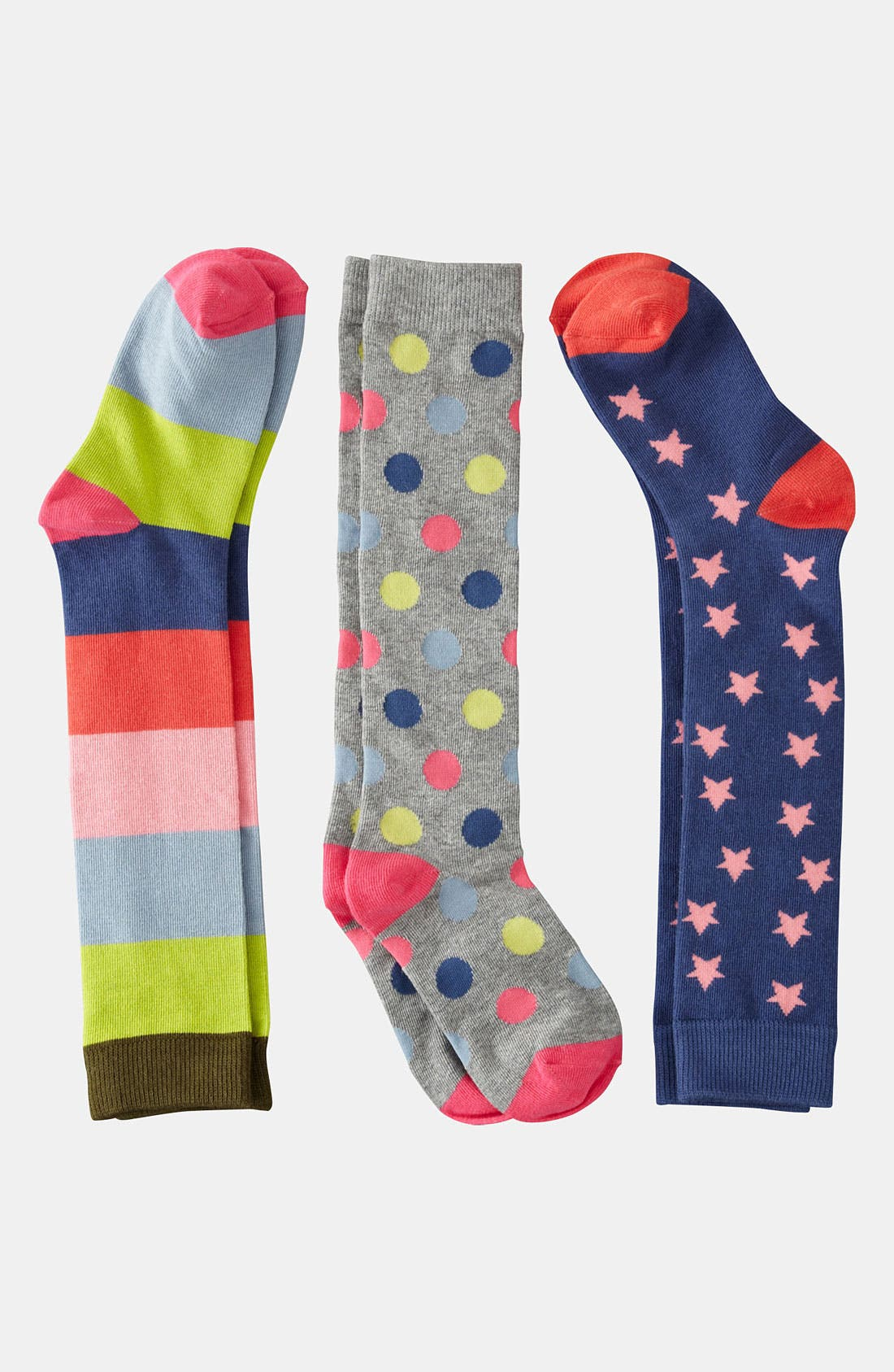Alternate Image 1 Selected - Mini Boden Knee Socks (3-Pack) (Girls)