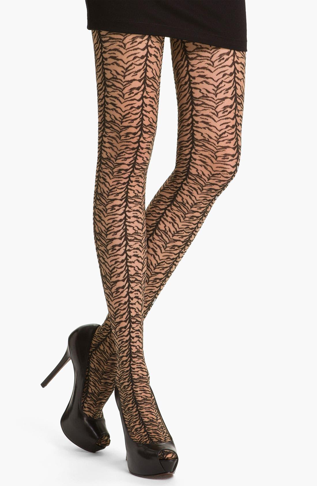 Alternate Image 1 Selected - Wolford 'Lulu' Zebra Stripe Tights