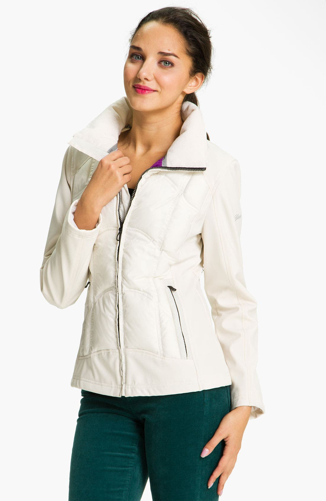 Main Image - GUESS Wing Collar Quilted Jacket