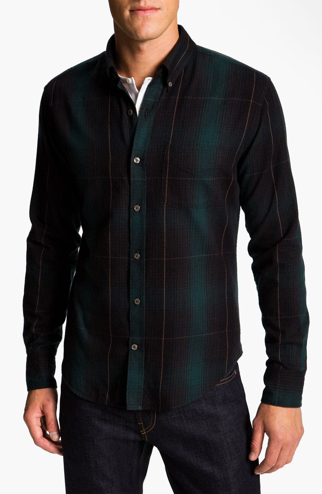 Alternate Image 1 Selected - Vince Cotton Flannel Shirt