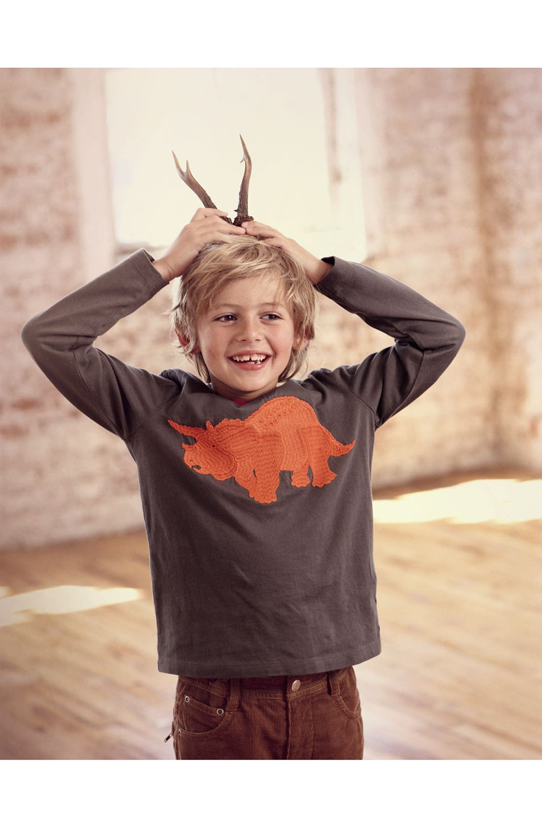 Alternate Image 2  - Mini Boden 'Super Stitch' T-Shirt (Toddler)