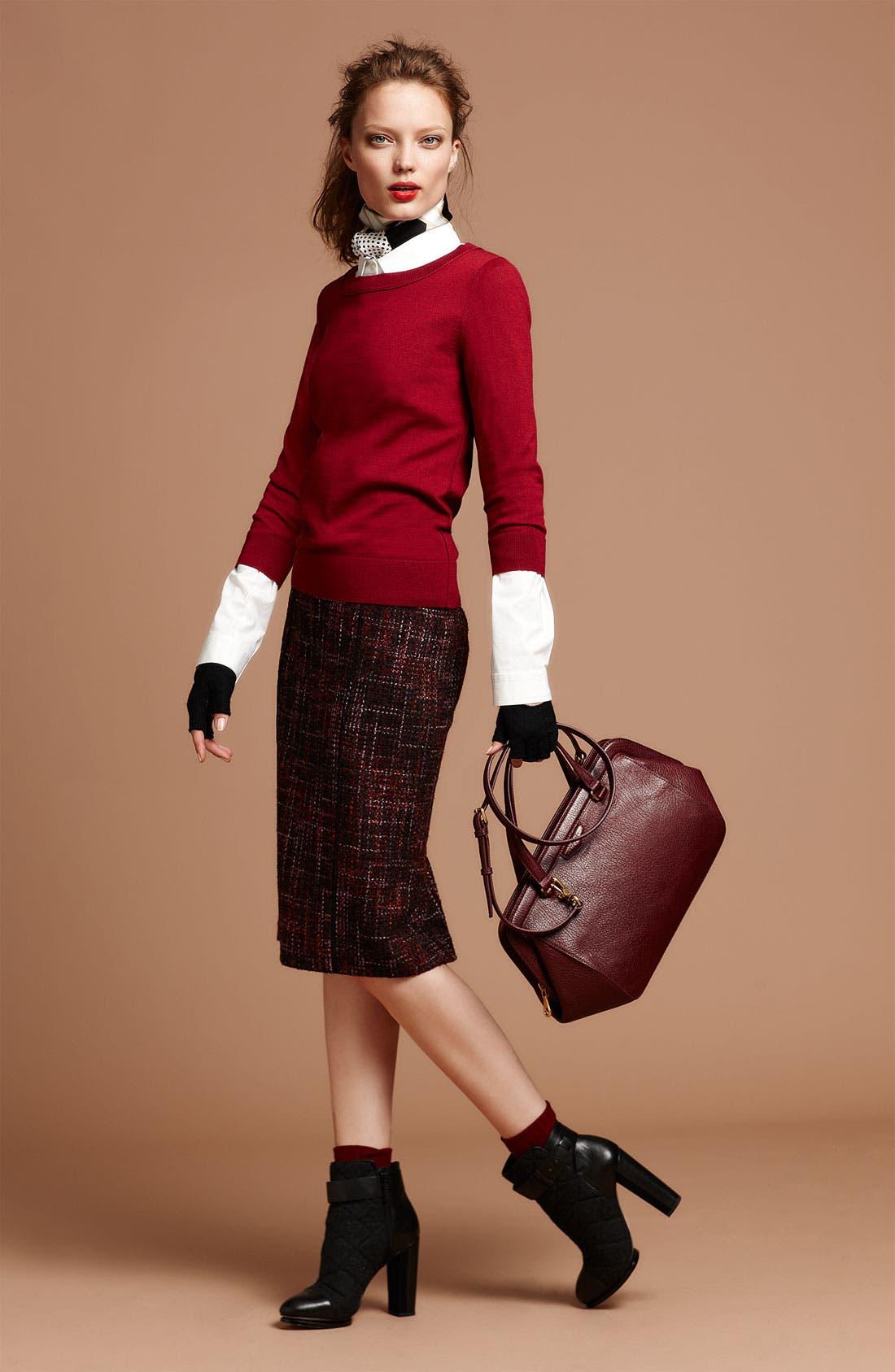 Alternate Image 2  - Halogen® Elastic Waistband Bouclé Skirt