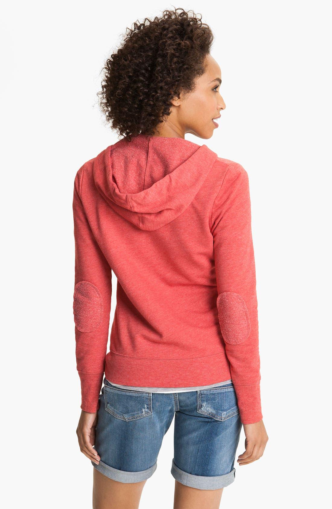 Alternate Image 2  - Caslon® Zip Fleece Hoodie