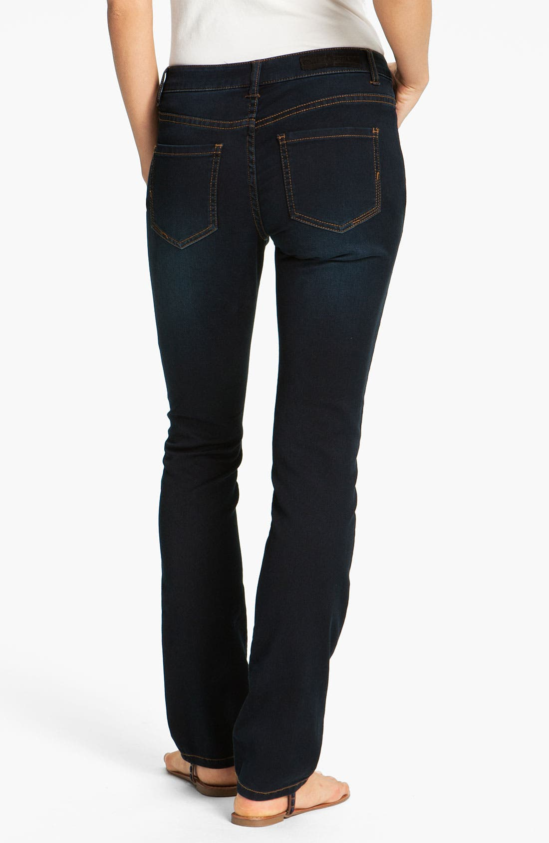 Alternate Image 1 Selected - Liverpool Jeans Company 'Sadie' Straight Leg Supersoft Stretch Jeans (Petite) (Online Only)