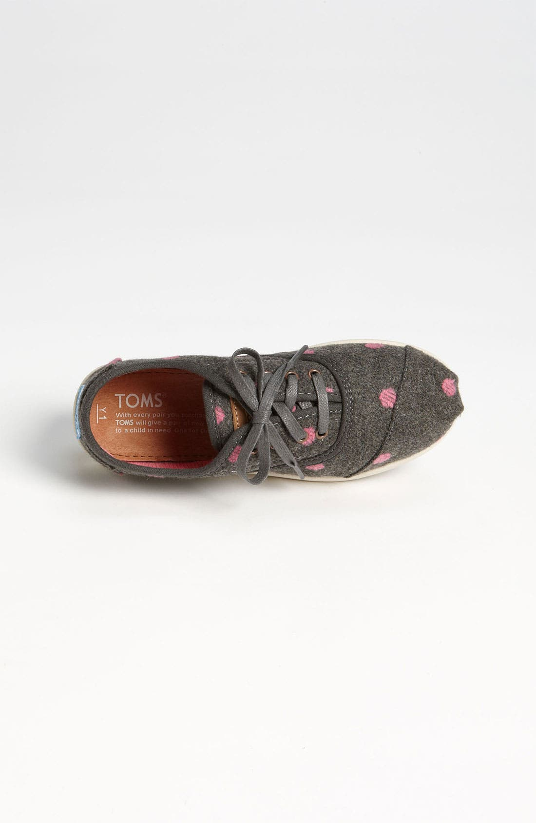 Alternate Image 3  - TOMS 'Cordones - Youth' Wool Slip-On (Toddler, Little Kid & Big Kid)