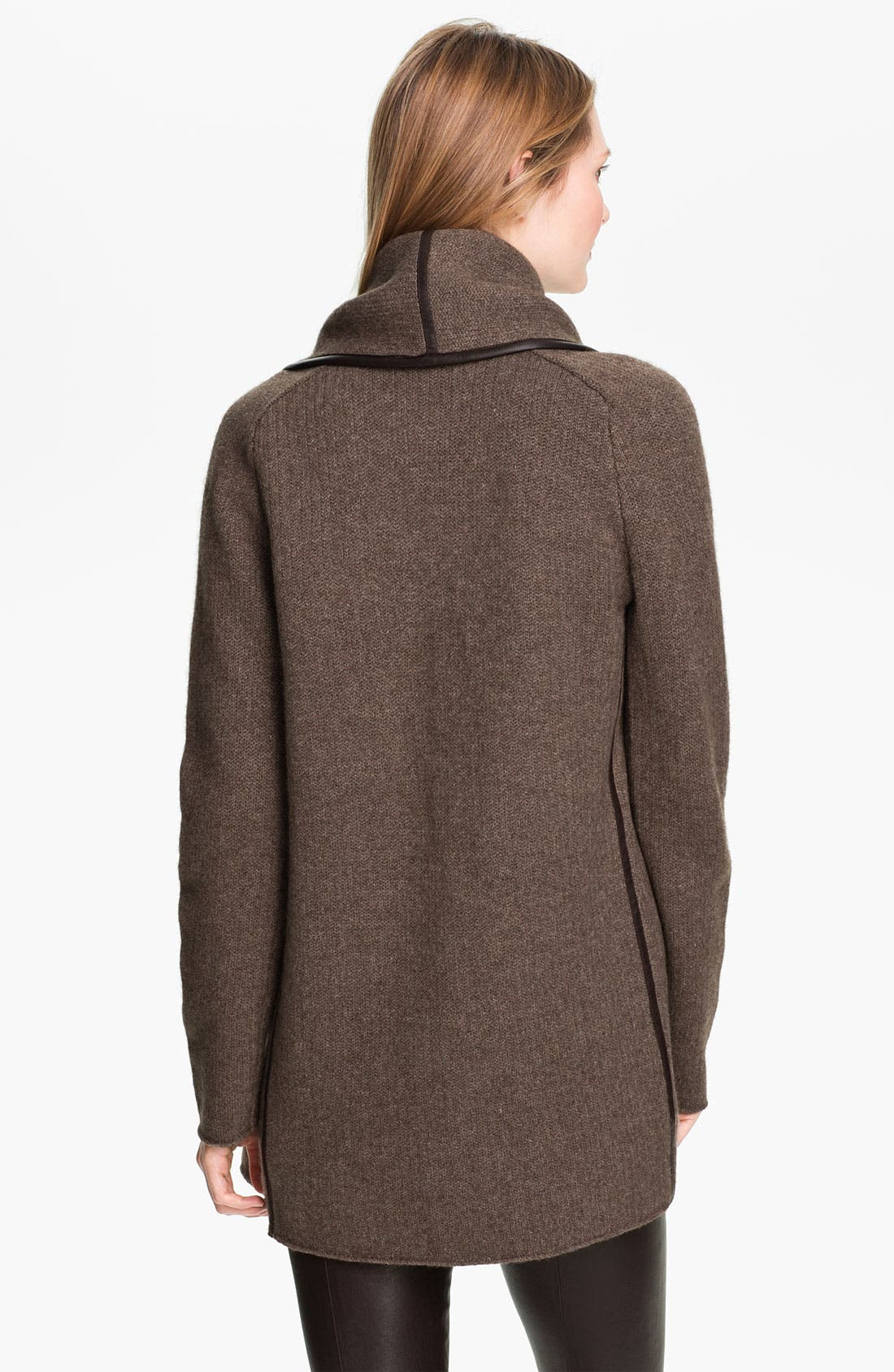Alternate Image 2  - Vince Leather Trim Coat