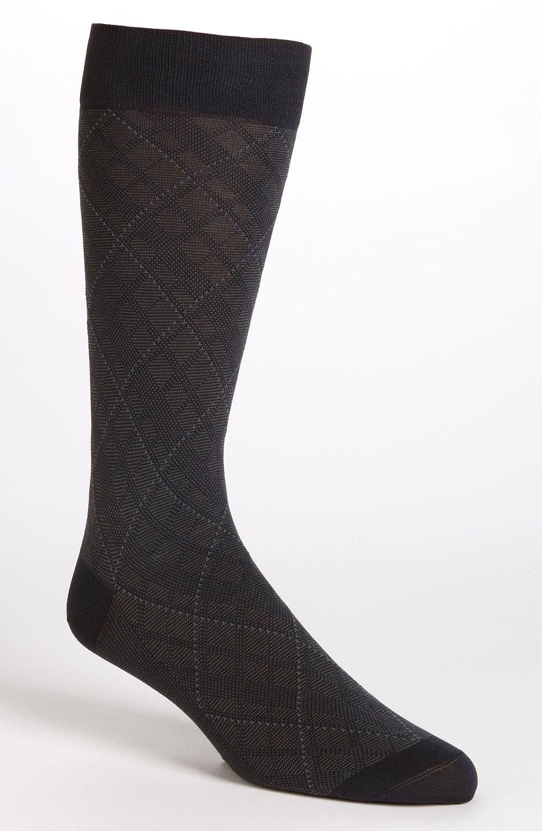 Alternate Image 1 Selected - Brooks Brothers Diamond Socks