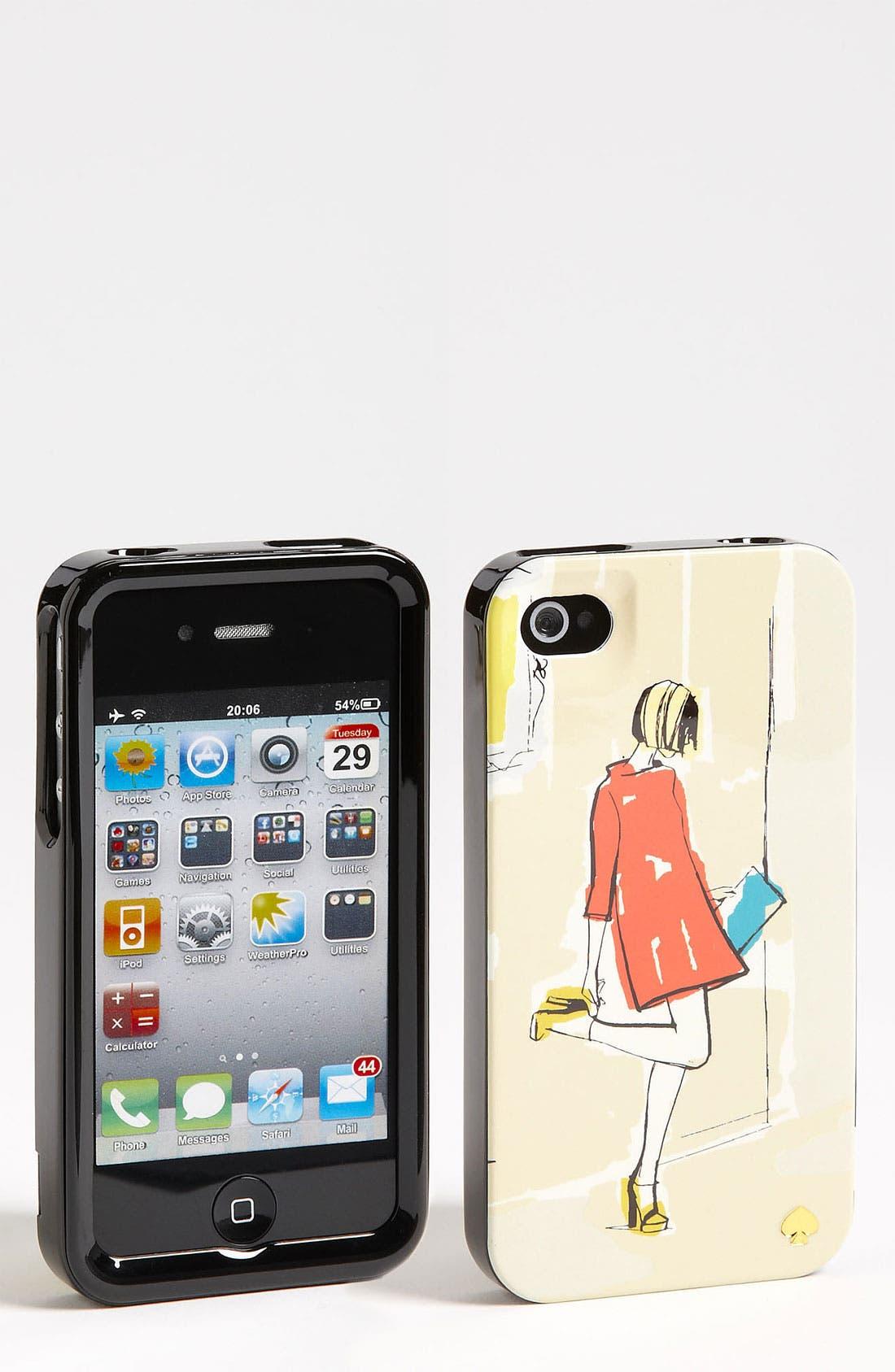 Main Image - kate spade new york 'garance doré - girl' iPhone 4 & 4S case