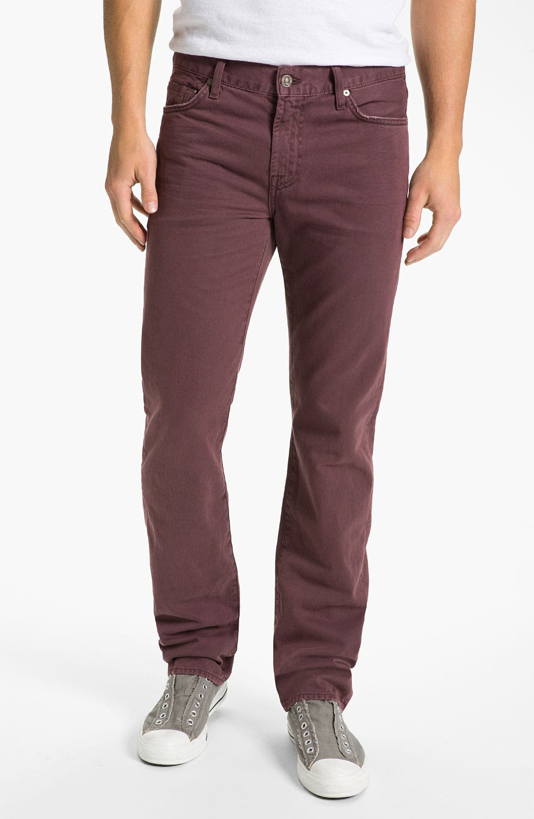 Alternate Image 2  - 7 For All Mankind® 'Slimmy' Slim Straight Leg Jeans (Dark Merlot)