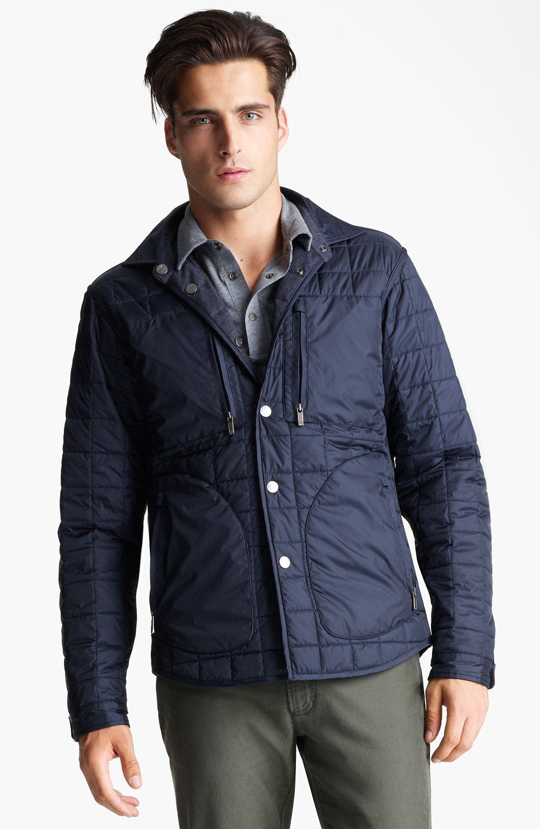Alternate Image 1 Selected - Zegna Sport Reversible Quilted Jacket
