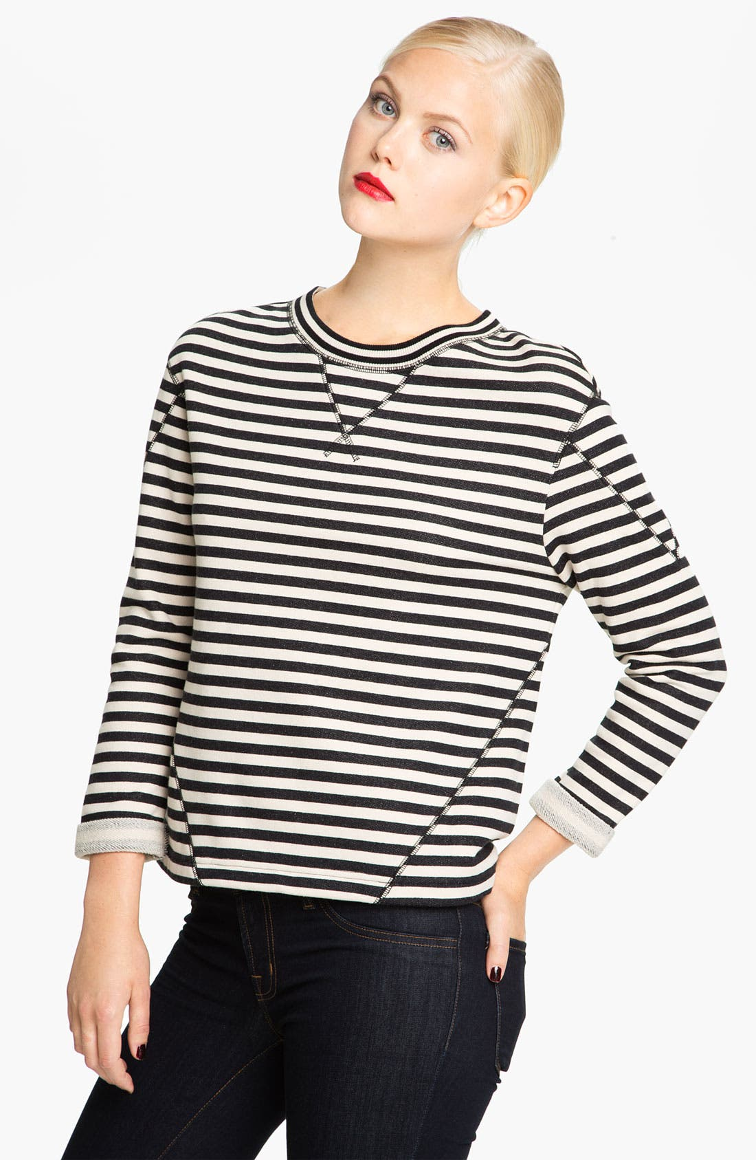 Alternate Image 1 Selected - MARC BY MARC JACOBS 'Ben' Stripe Sweatshirt