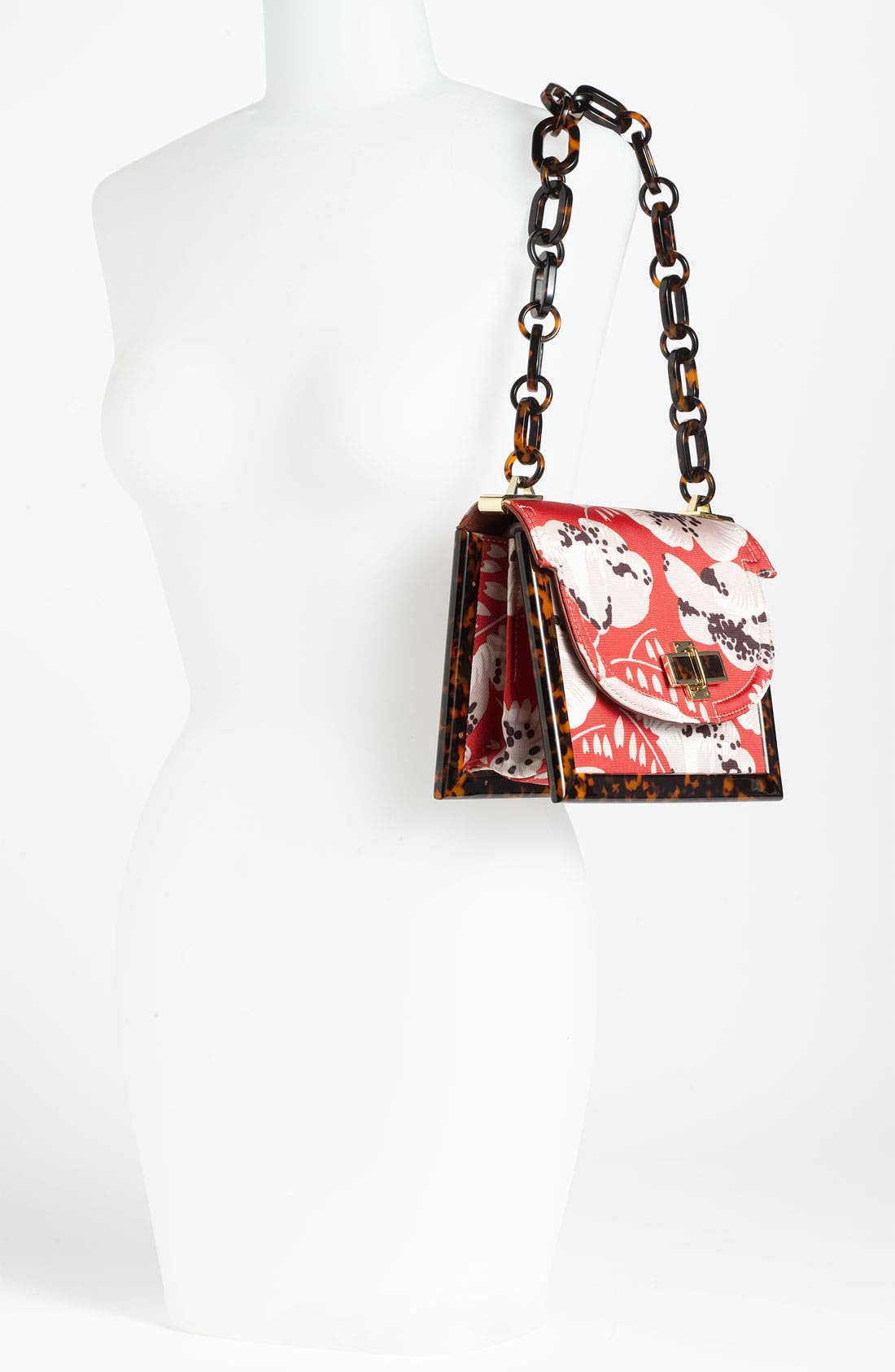 Alternate Image 2  - Tory Burch Print Faille & Resin Frame Shoulder Bag