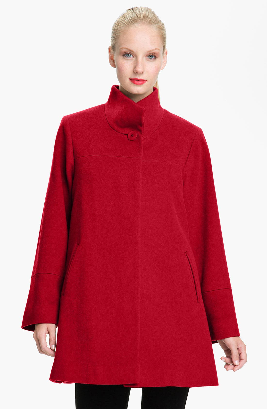 Main Image - Fleurette Stand Collar Coat
