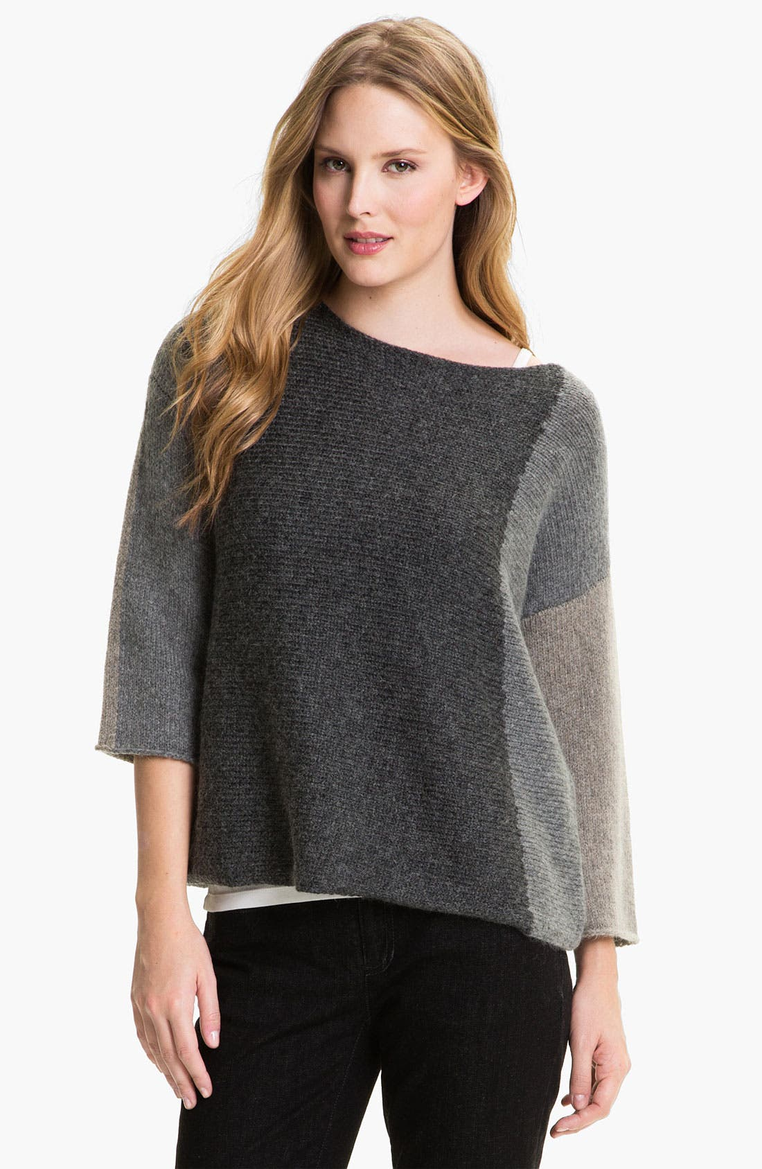 Alternate Image 1 Selected - Eileen Fisher Colorblocked Sweater