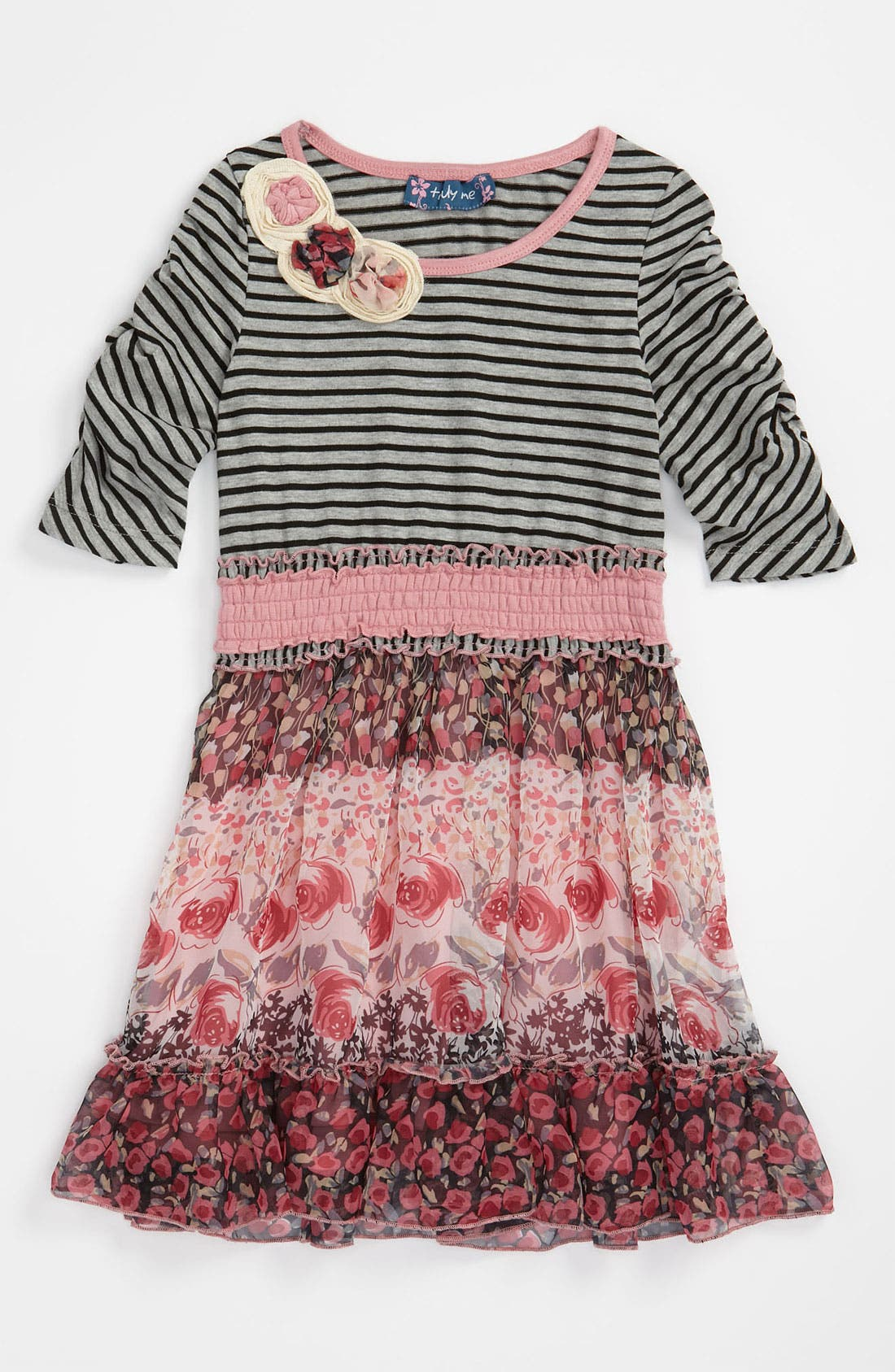Main Image - Truly Me Smocked Waist Dress (Little Girls & Big Girls)