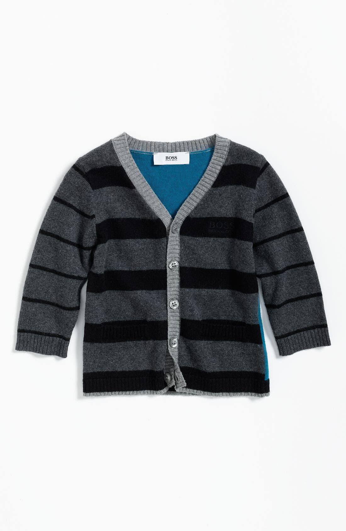 Alternate Image 1 Selected - BOSS Kidswear Stripe Cardigan (Infant)