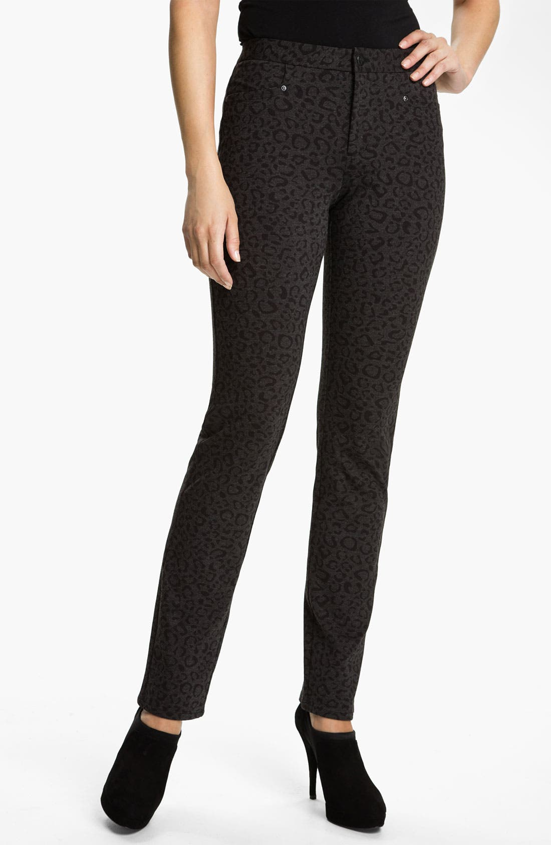Main Image - NYDJ 'Nancy' Skinny Animal Print Knit Pants
