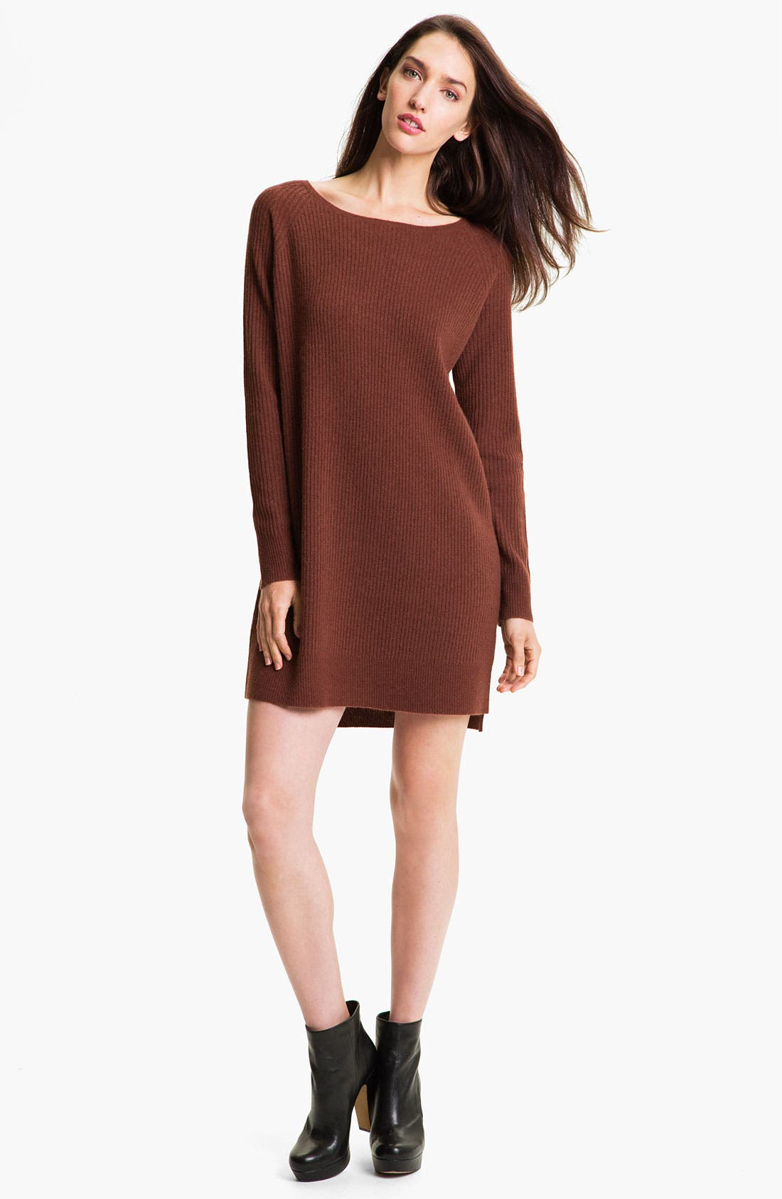Alternate Image 1 Selected - Vince Ribbed Sweater Dress
