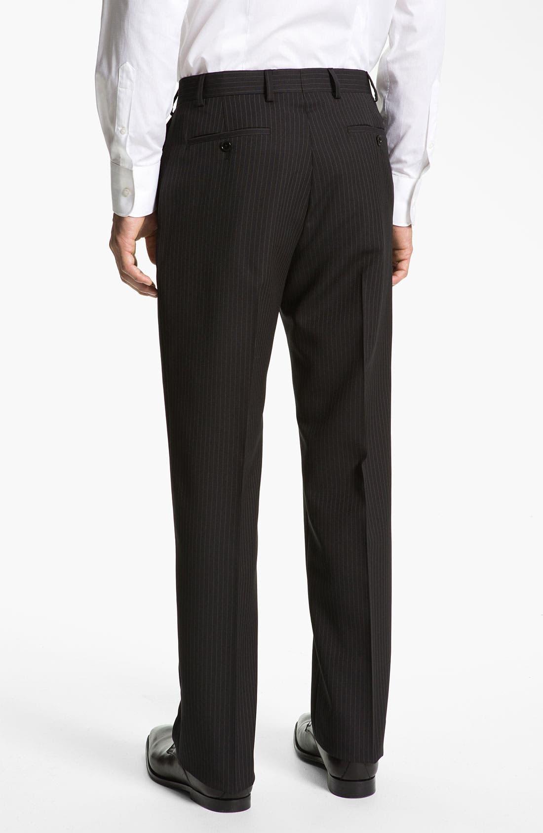 Alternate Image 5  - Armani Collezioni 'Giorgio' Trim Fit Stripe Suit