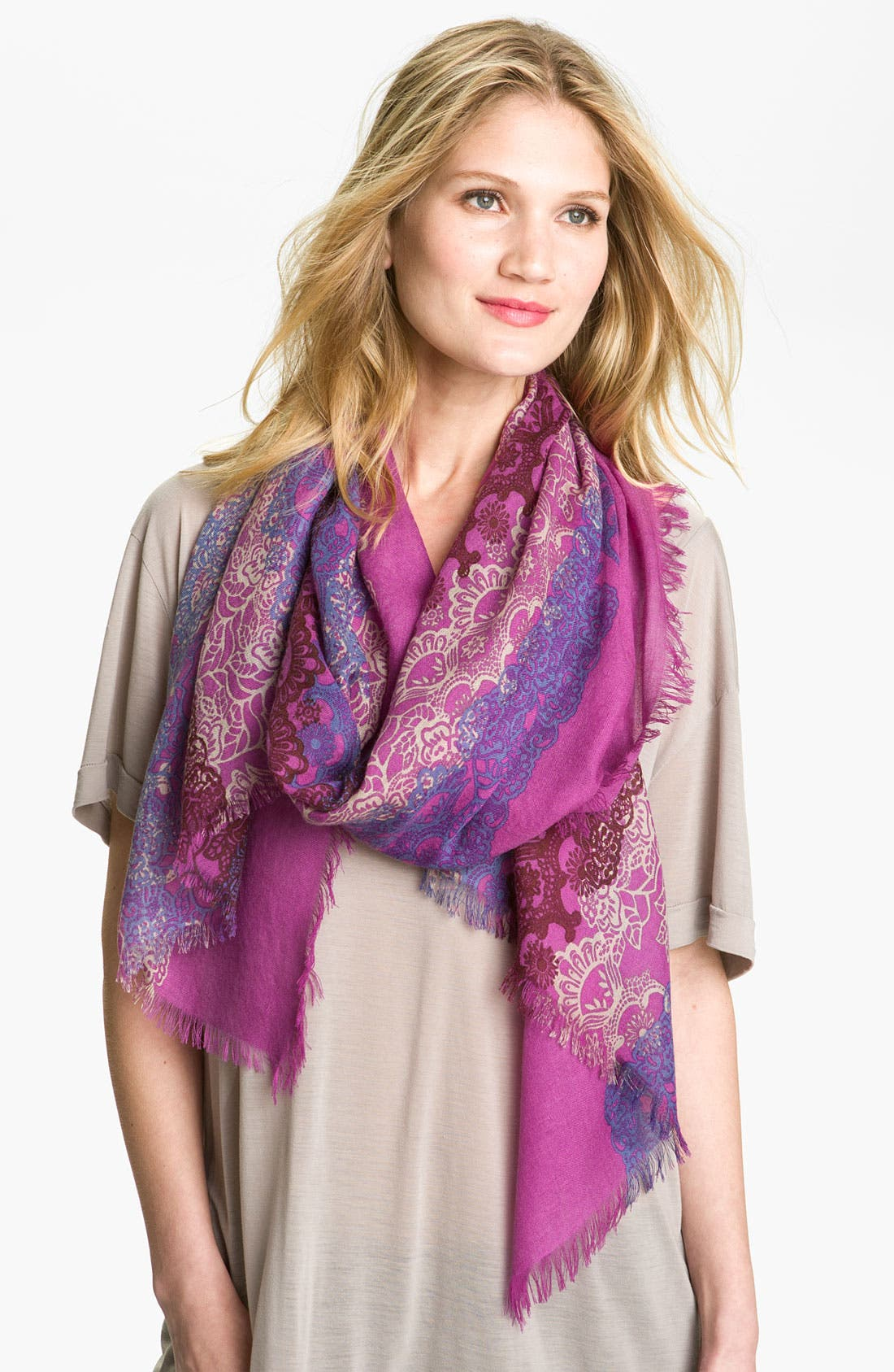 Alternate Image 1 Selected - Nordstrom Cashmere & Silk Scarf