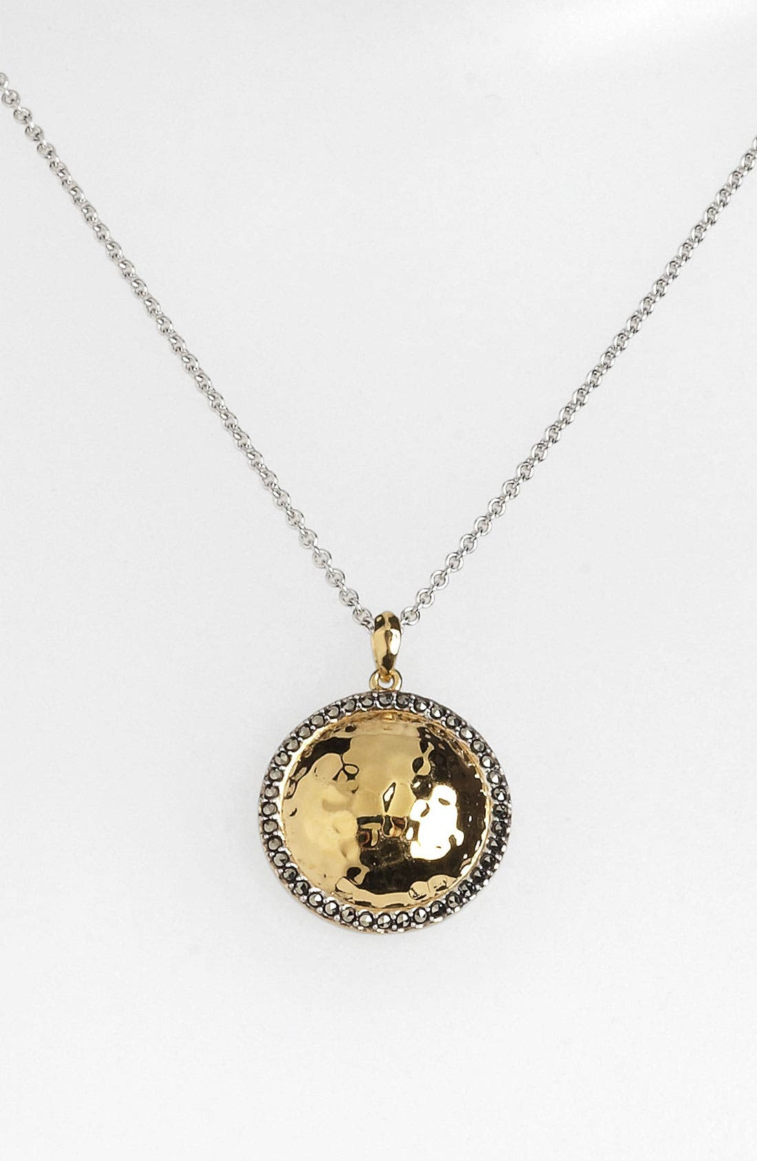 Main Image - Judith Jack 'Gold Sea' Puffy Dome Pendant Necklace